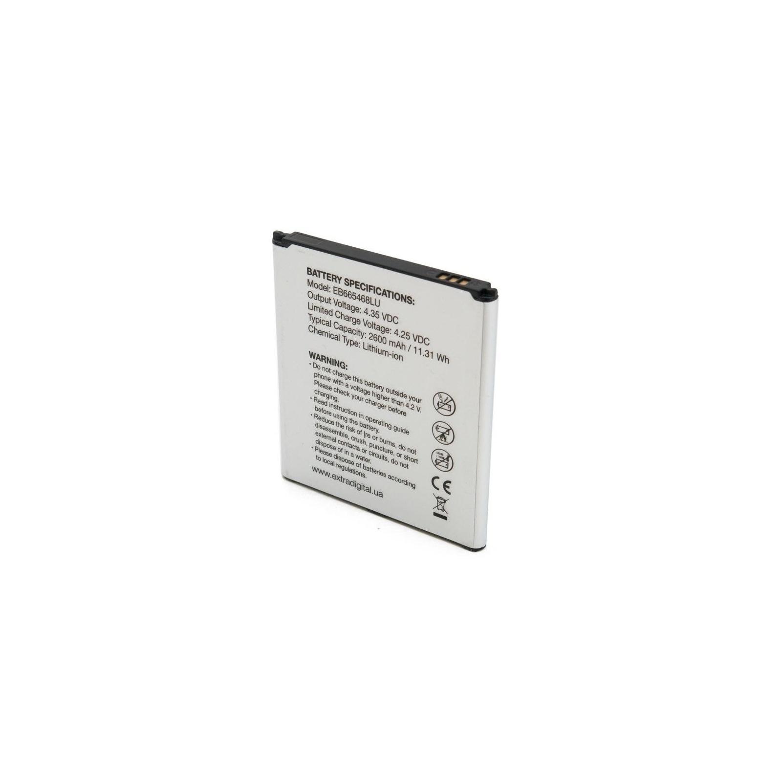 Аккумуляторная батарея EXTRADIGITAL Samsung Galaxy Grand 2 Duos G7102 (2600 mAh, EB665468LU) (BMS6417) изображение 4