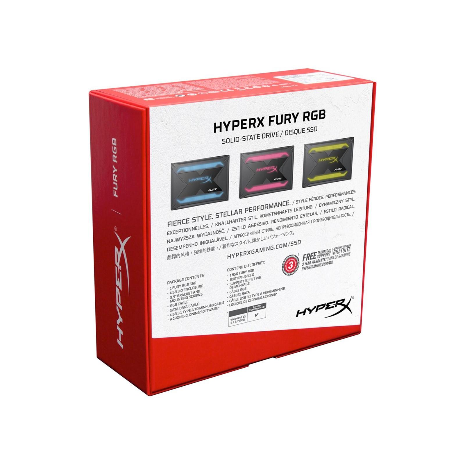 """Накопичувач SSD 2.5"""" 240GB HyperX SSD (SHFR200B/240G) зображення 7"""
