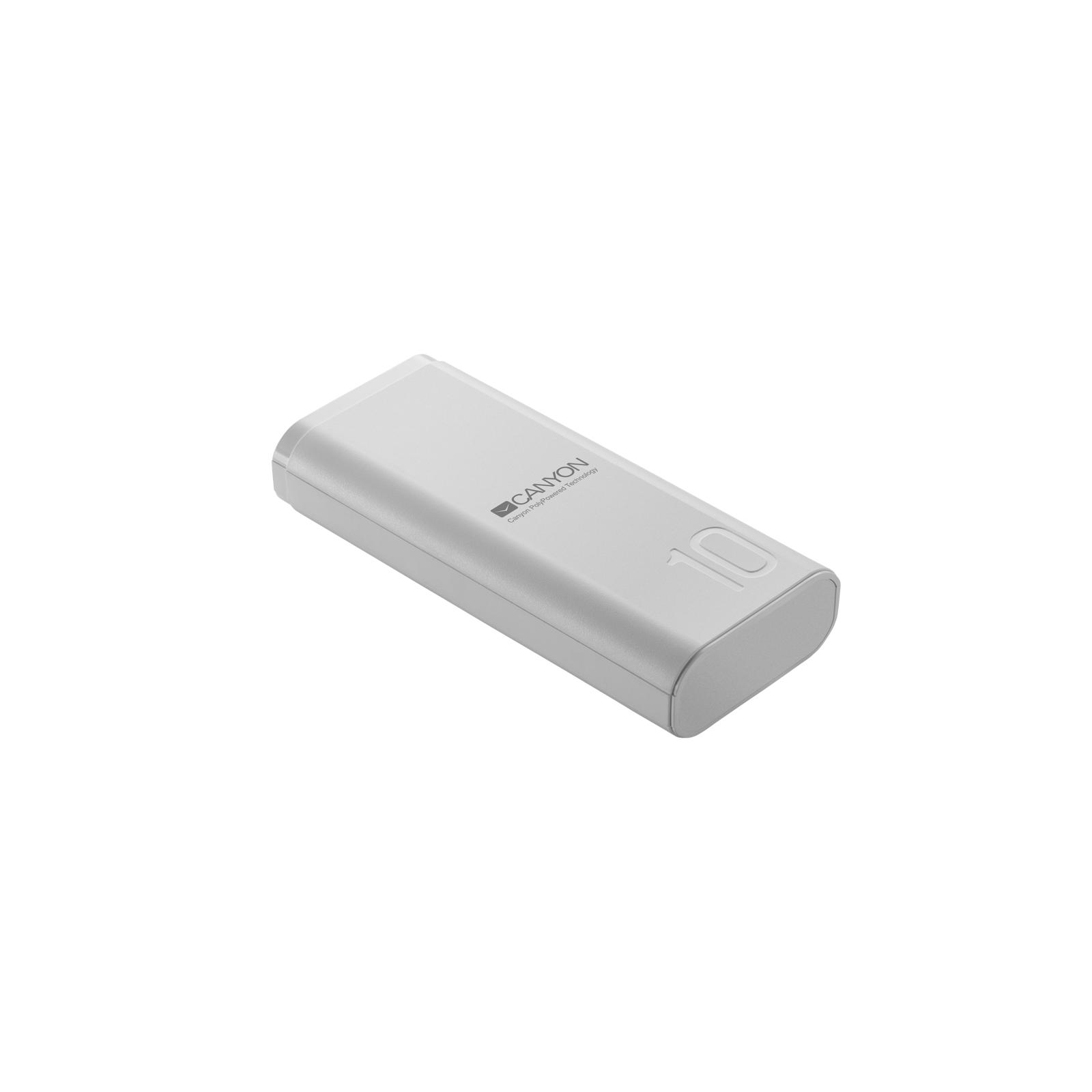 Батарея универсальная Canyon PB-103 10000mAh, Input 5V/2A, Output 5V/2.1A, Black (CNE-CPB010B) изображение 2
