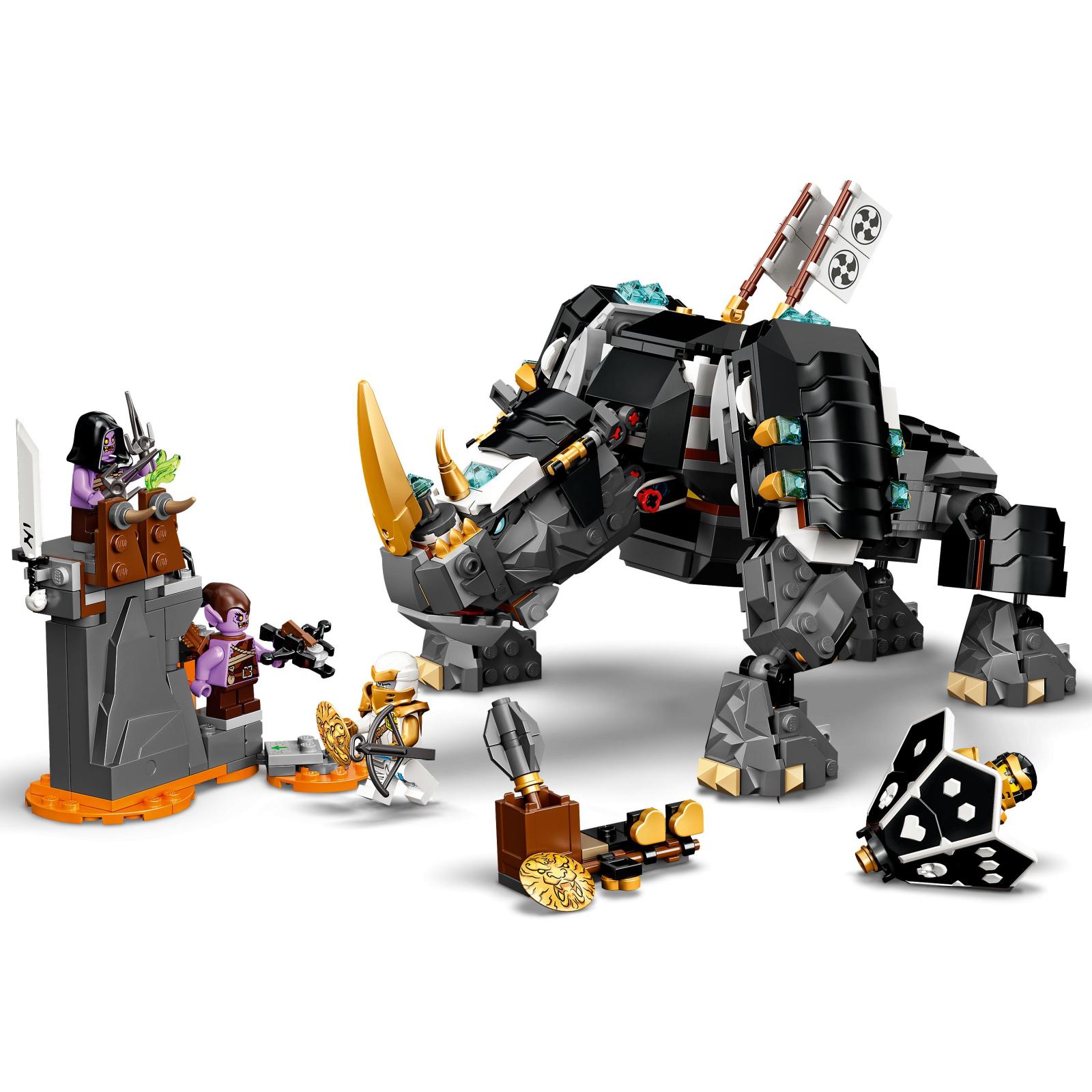 Конструктор LEGO Ninjago Бронированный носорог Зейна 616 деталей (71719) изображение 4