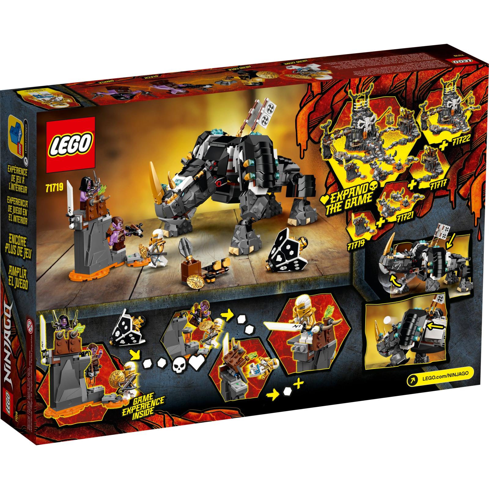 Конструктор LEGO Ninjago Бронированный носорог Зейна 616 деталей (71719) изображение 7