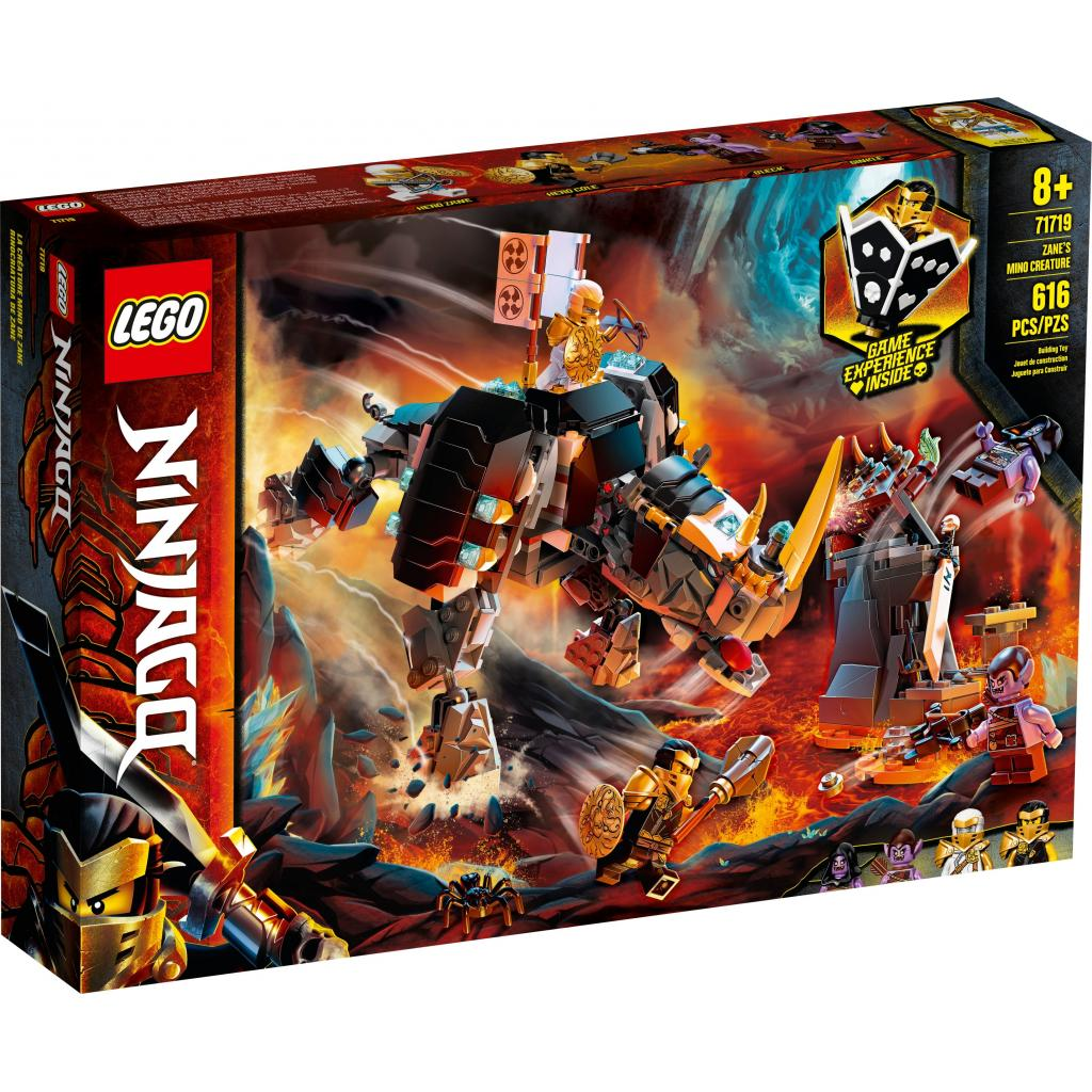 Конструктор LEGO Ninjago Бронированный носорог Зейна 616 деталей (71719)