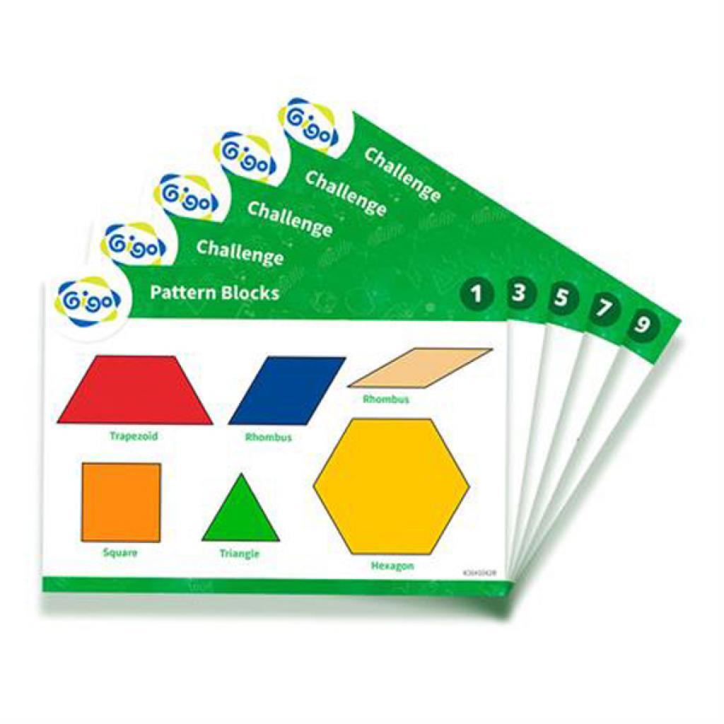 Навчальний набір Gigo Геометрична мозаїка з картками, 250 ел. (1042R) зображення 3