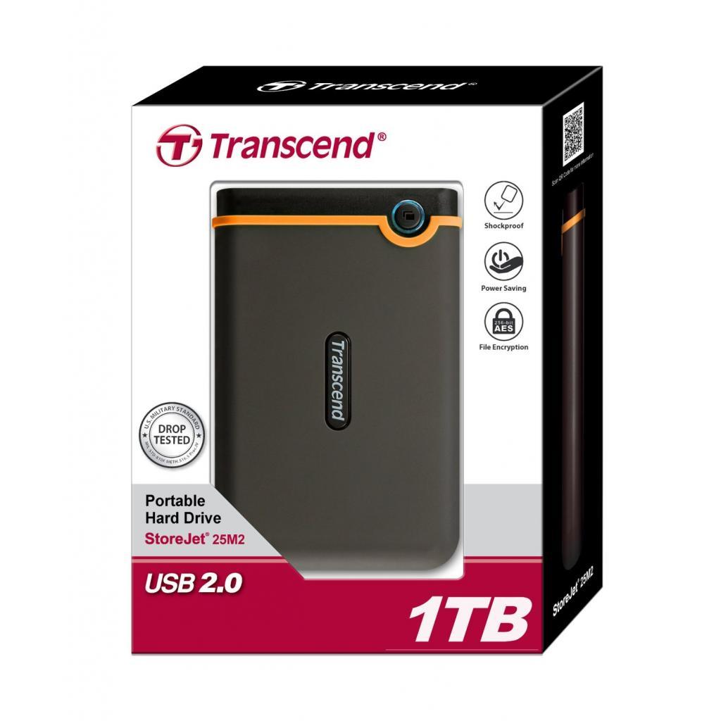 "Внешний жесткий диск 2.5"" 1TB Transcend (TS1TSJ25M2) изображение 5"