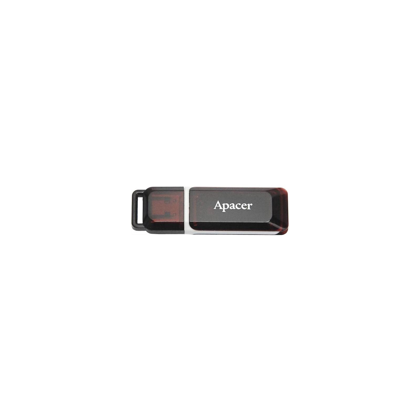 USB флеш накопитель Handy Steno AH321 black-red Apacer (AP8GAH321R-1)