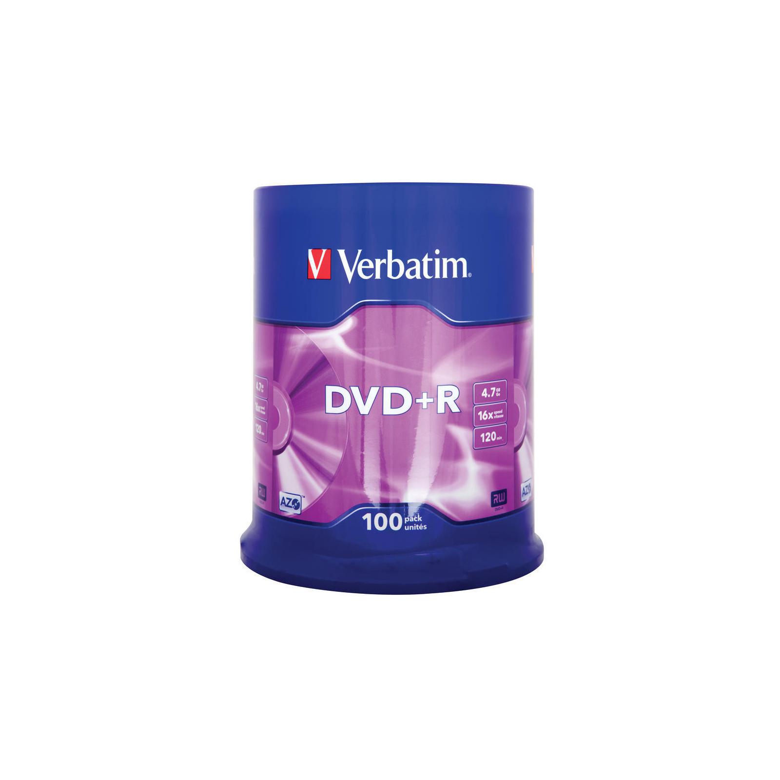 Диск DVD Verbatim 4.7Gb 16X CakeBox 100шт (43551) изображение 2