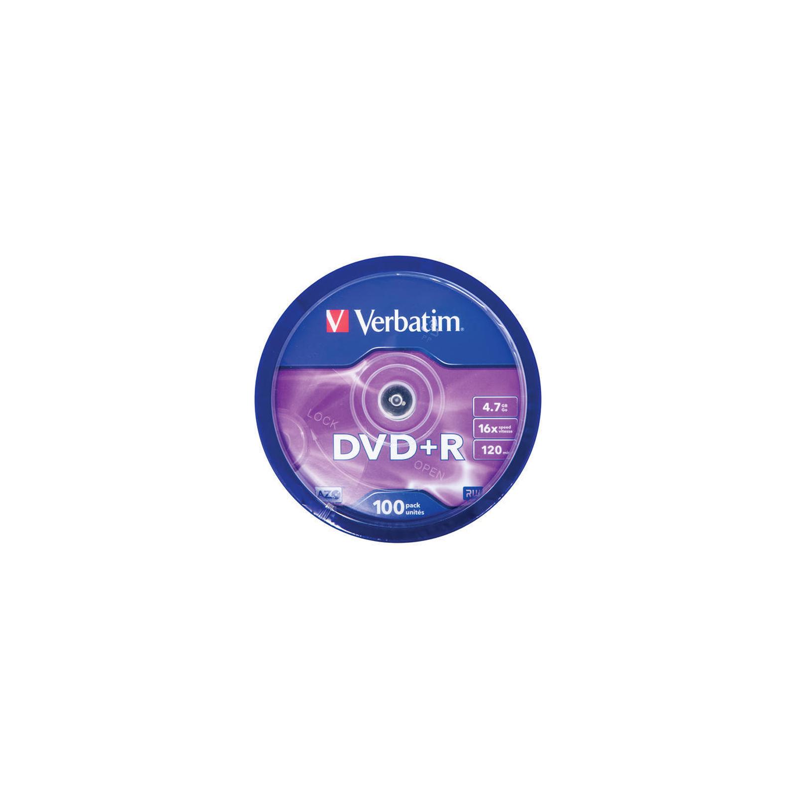 Диск DVD Verbatim 4.7Gb 16X CakeBox 100шт (43551) изображение 3
