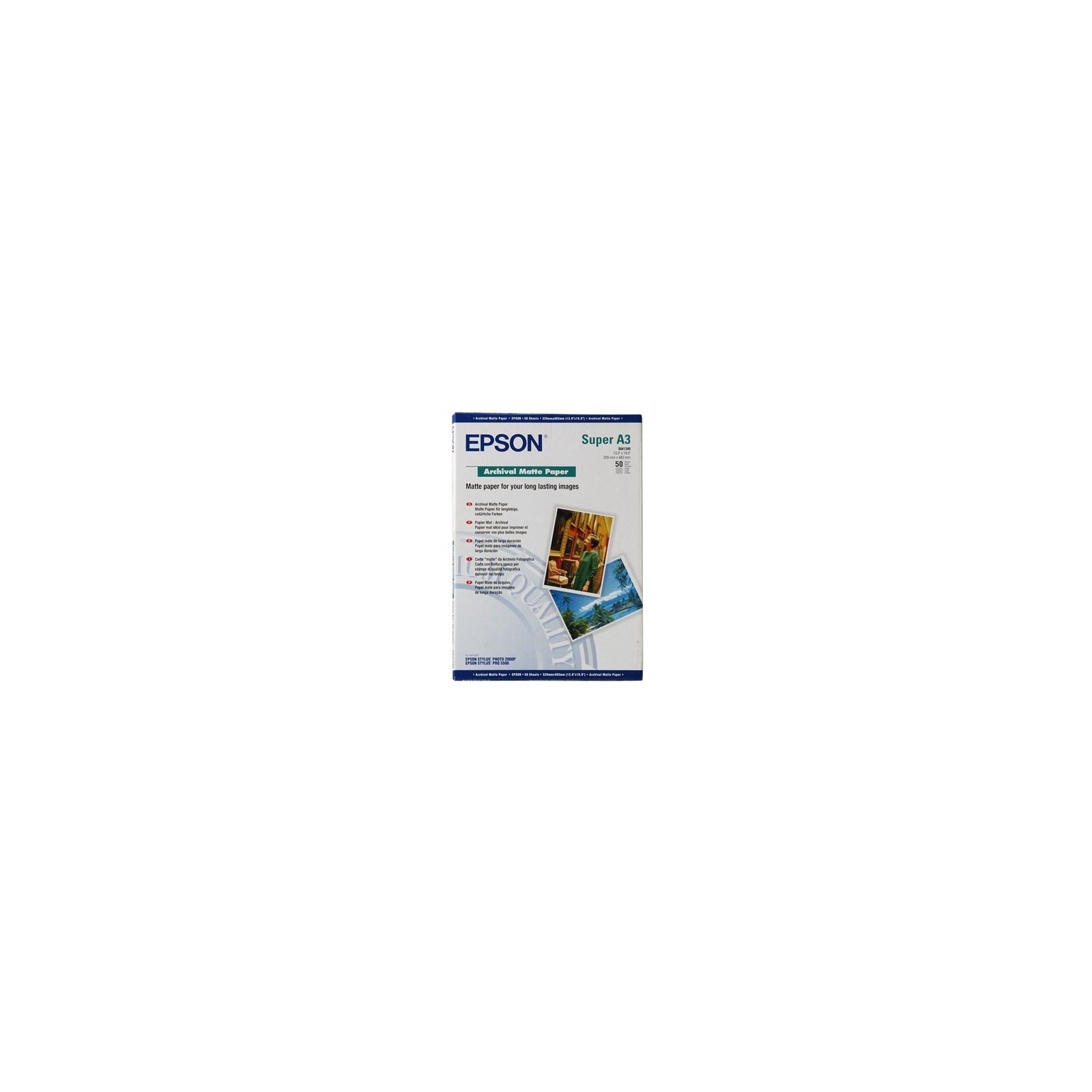 Бумага EPSON A3+ Archival Matte Paper (C13S041340)