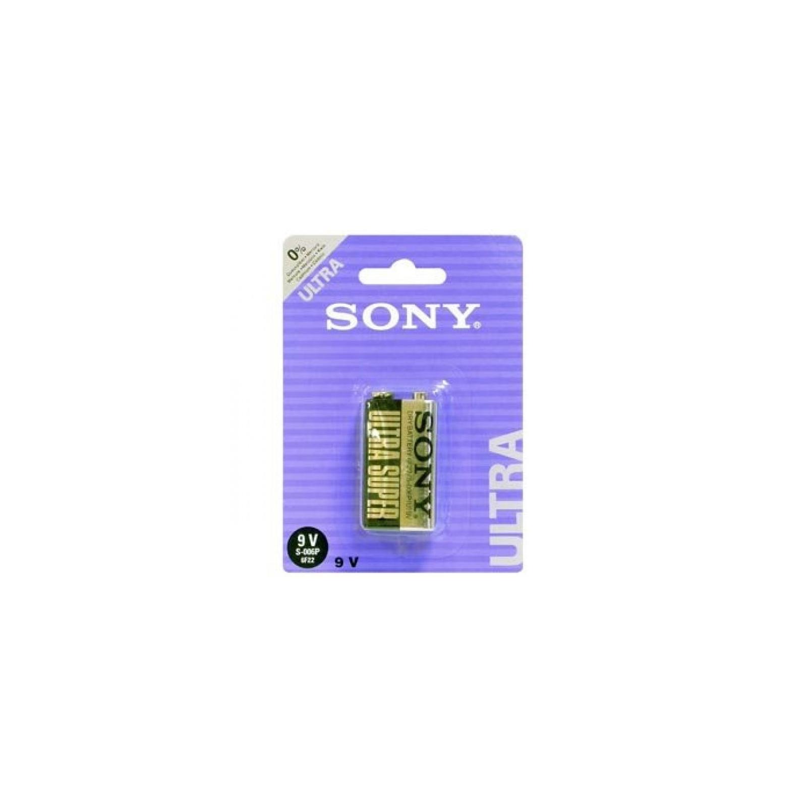 Батарейка SONY Крона SONY 6F22 9V (S006PB1A)