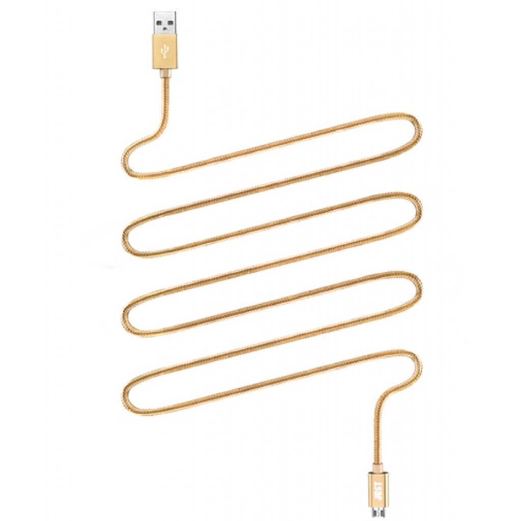 Дата кабель USB 2.0 AM to Lightning 2.0m Gold JUST (LGTNG-CPR20-GLD)