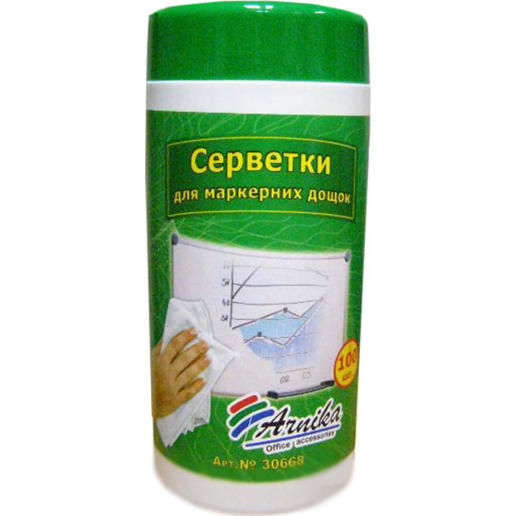 Салфетки Arnika for marker boards tub-100pcs (30668)