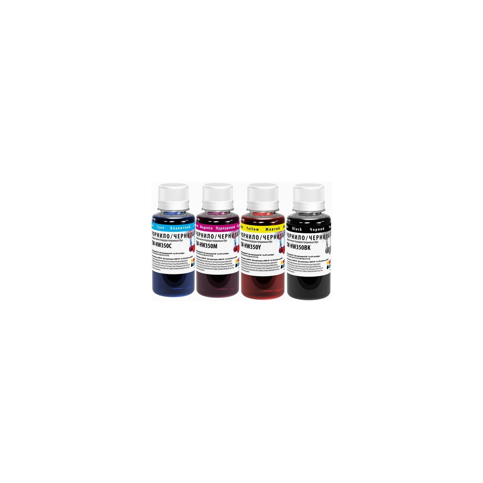 Чернила ColorWay HP №121 black pigment+134 С/M/Y (CW-HP360BK/HW350SET01)