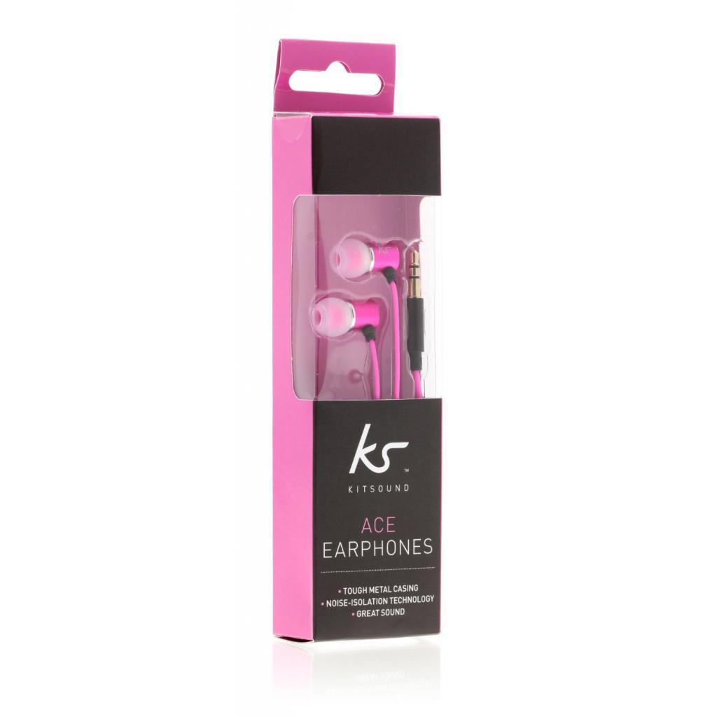 Наушники KitSound KS Ace In-Ear Headphones with mic Pink (KSACEMPI) изображение 7