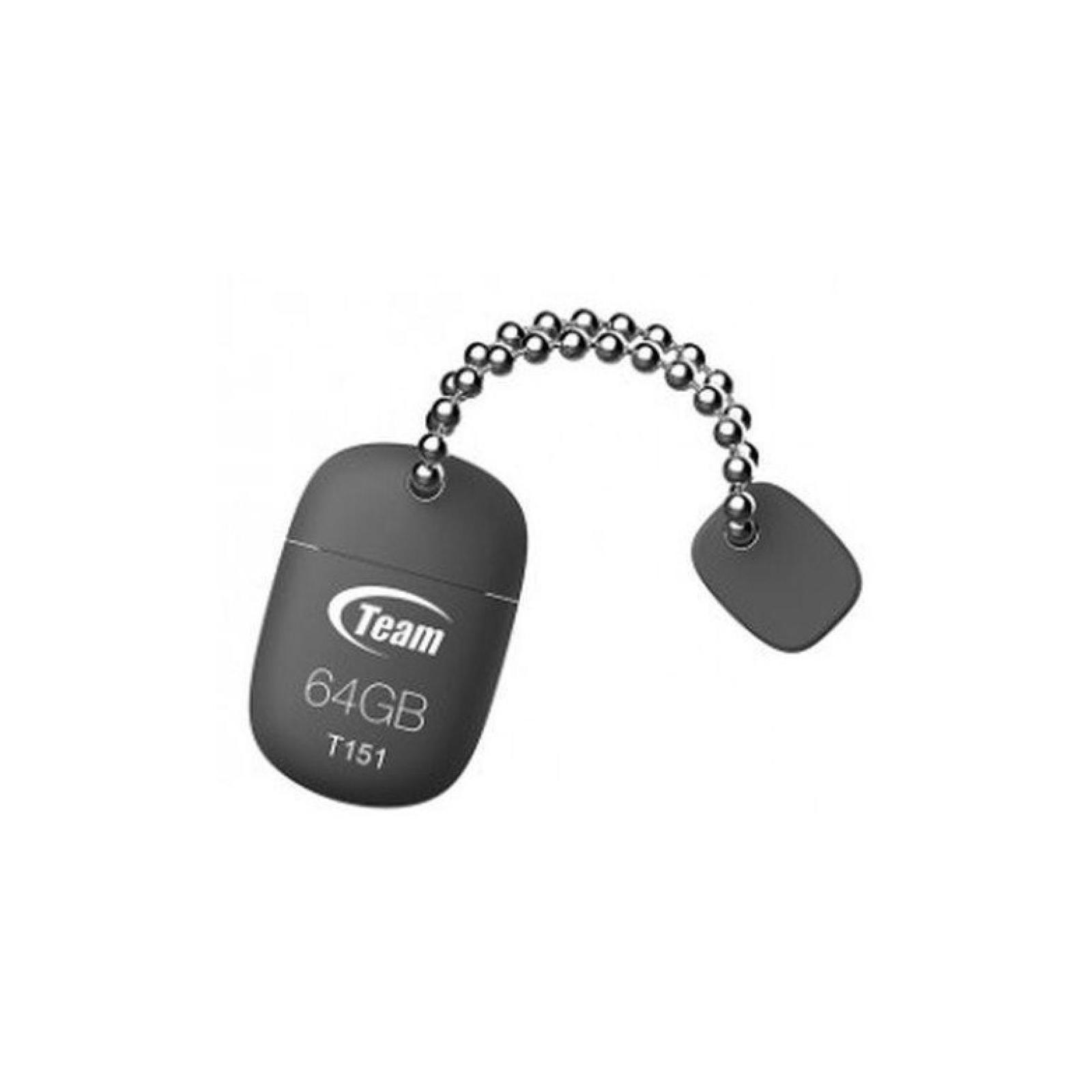 USB флеш накопитель Team 64GB T151 Grey USB 2.0 (TT15164GC01)