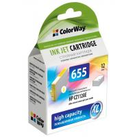 Картридж ColorWay HP №655 Yellow (CZ112AE) DJ 4615/4625/3525/5525 (CW-H655Y)