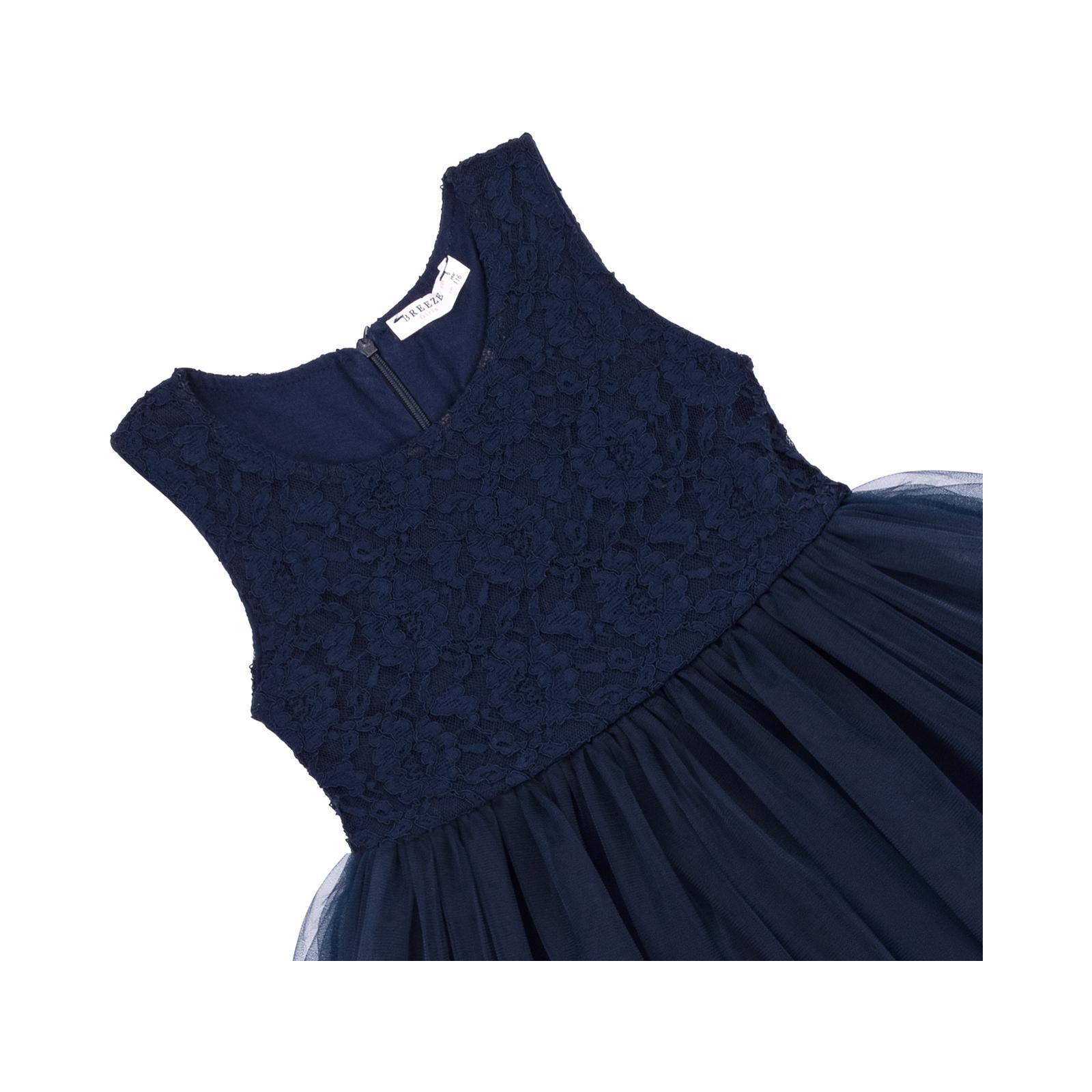 Платье Breeze с кружевным лифом и ассиметричной юбкой (11027-116G-blue) изображение 3