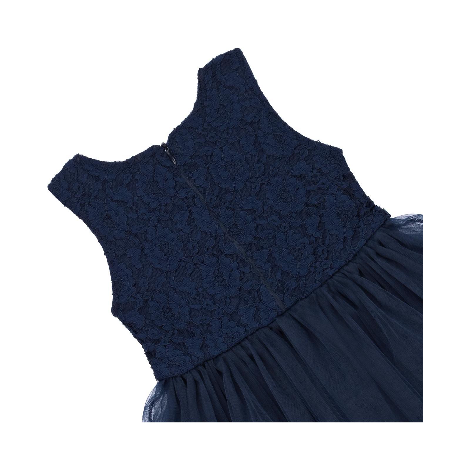 Платье Breeze с кружевным лифом и ассиметричной юбкой (11027-116G-blue) изображение 4