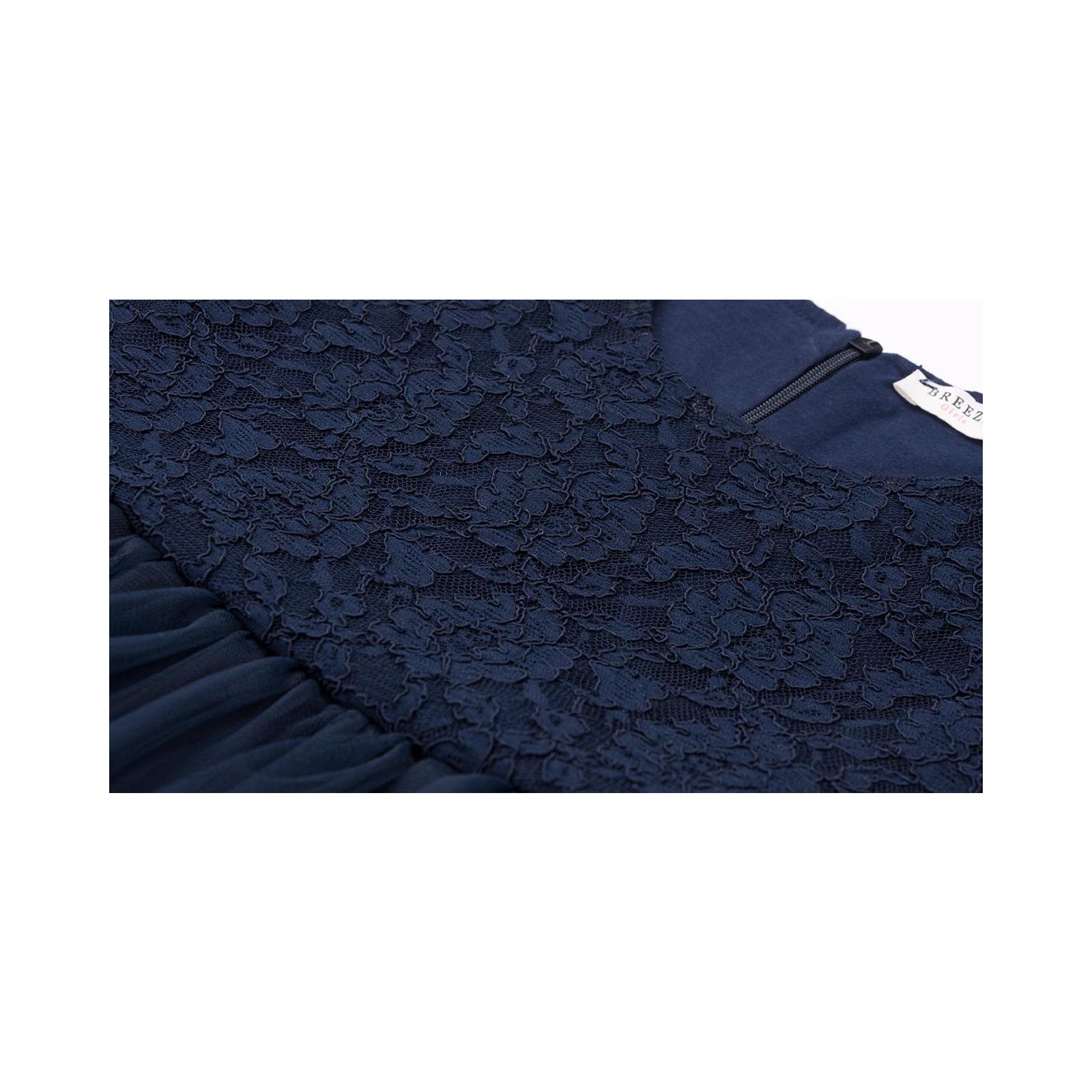 Платье Breeze с кружевным лифом и ассиметричной юбкой (11027-116G-blue) изображение 5
