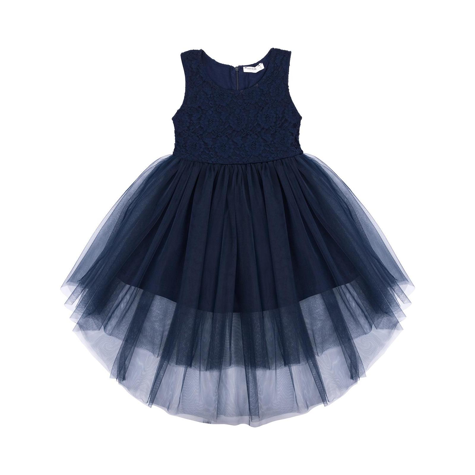 Платье Breeze с кружевным лифом и ассиметричной юбкой (11027-116G-blue)