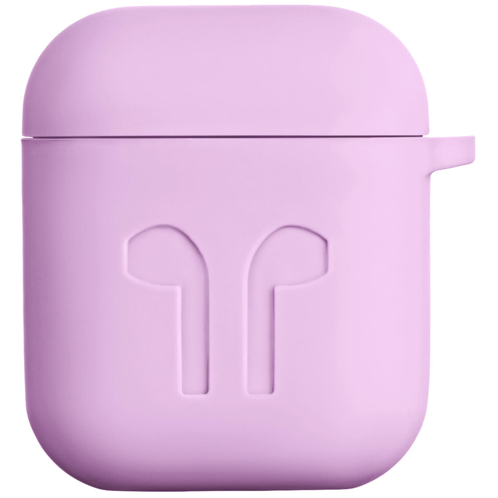 Чохол 2E для Apple AirPods Pure Color Silicone Imprint 1.5 мм Lavende (2E-AIR-PODS-IBSI-1.5-LV)