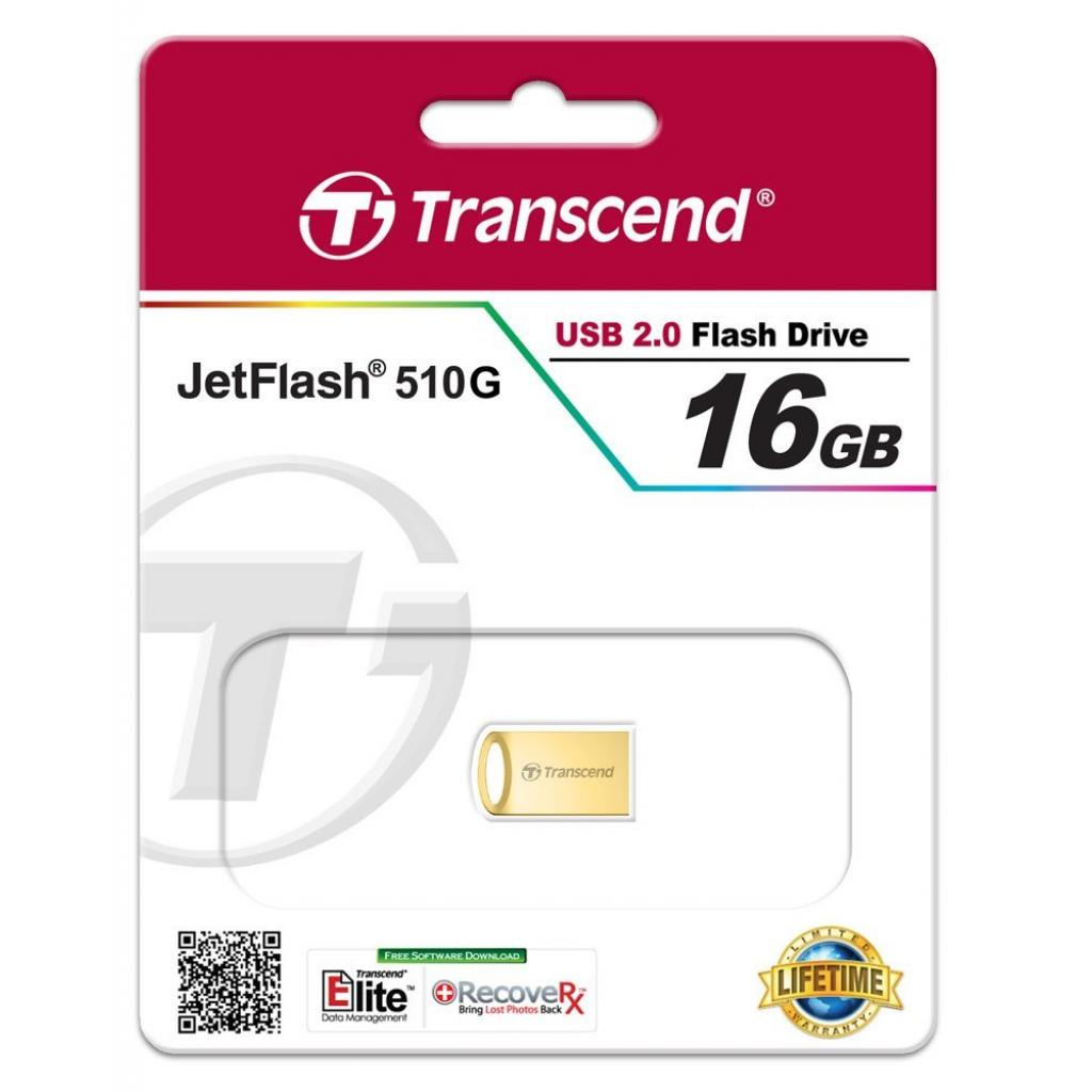 USB флеш накопитель Transcend JetFlash 510, Gold Plating (TS16GJF510G) изображение 4