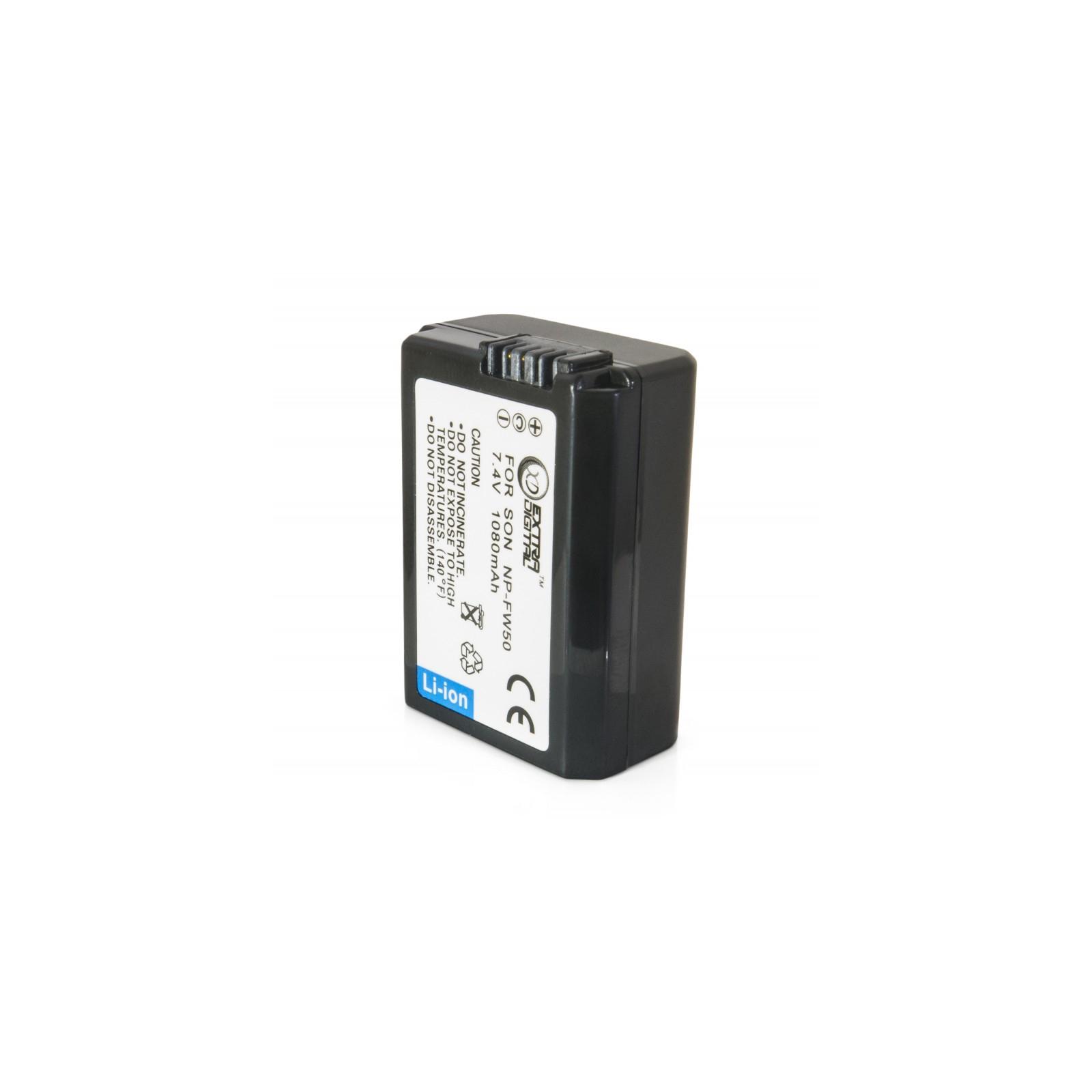 Аккумулятор к фото/видео EXTRADIGITAL Sony NP-FW50 (BDS2678) изображение 2