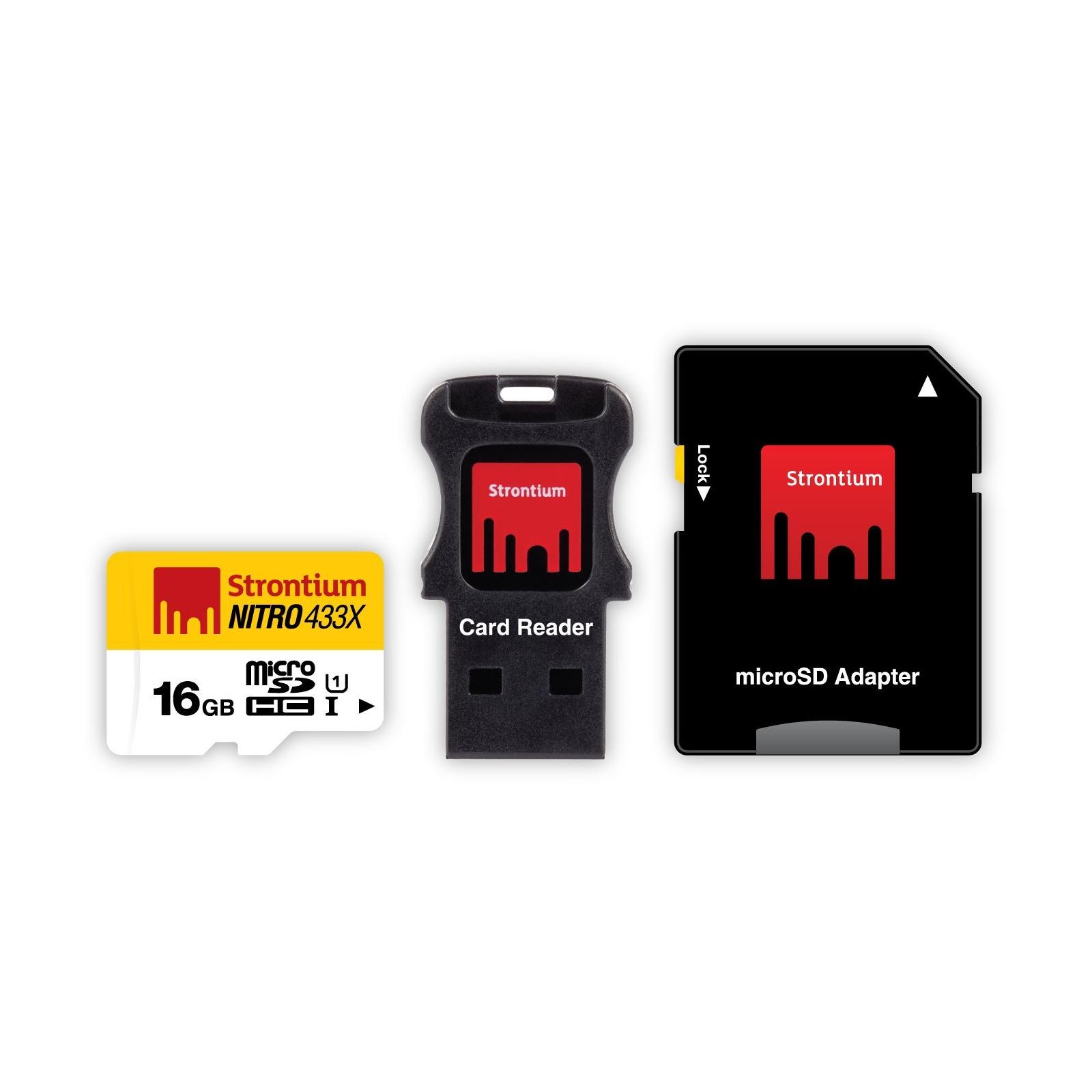 Карта памяти STRONTIUM Flash 16GB microSDHC Class 10 USH-I 433X (SRN16GTFU1C)