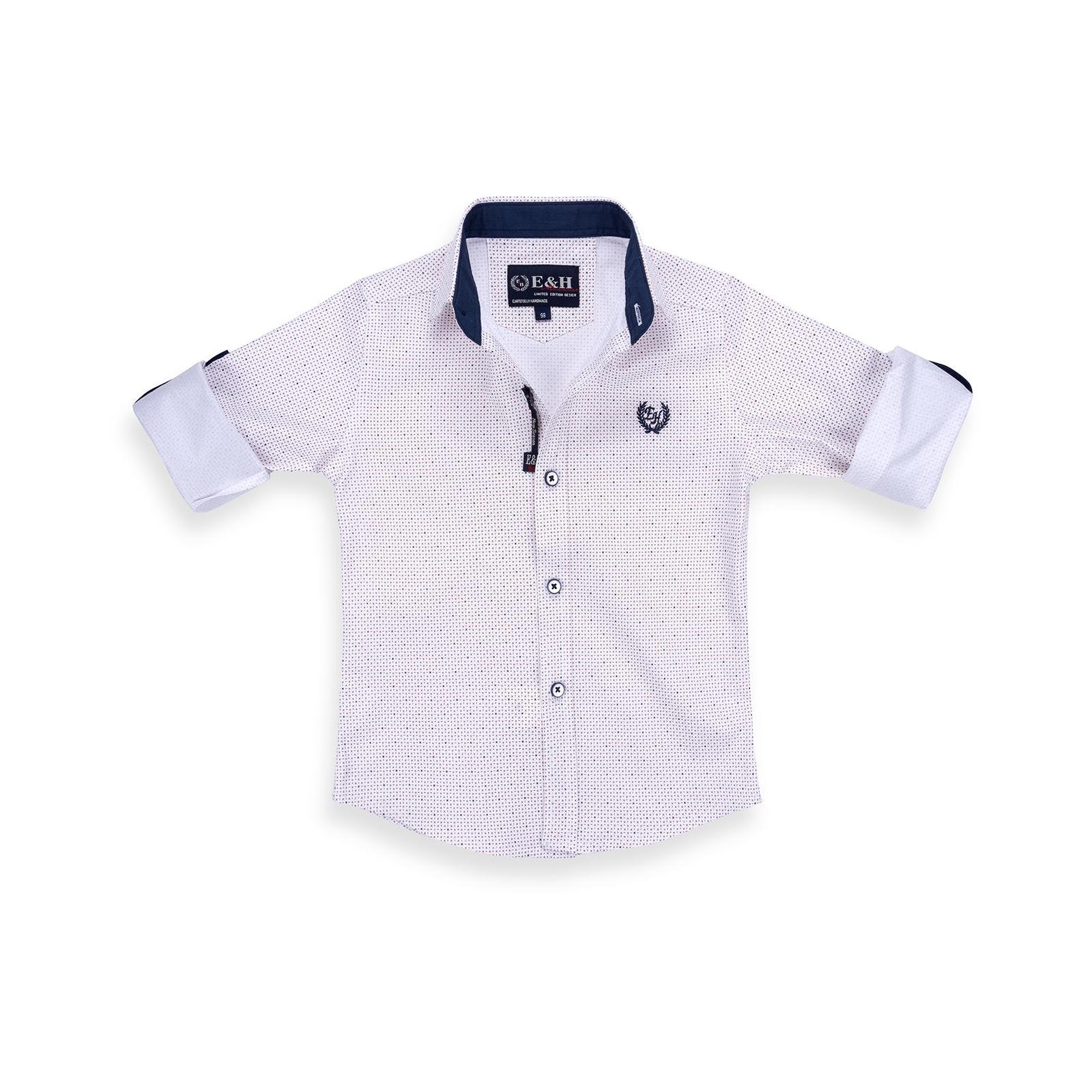 Рубашка E&H с мелким рисунком (G-257-98B-beige) изображение 5