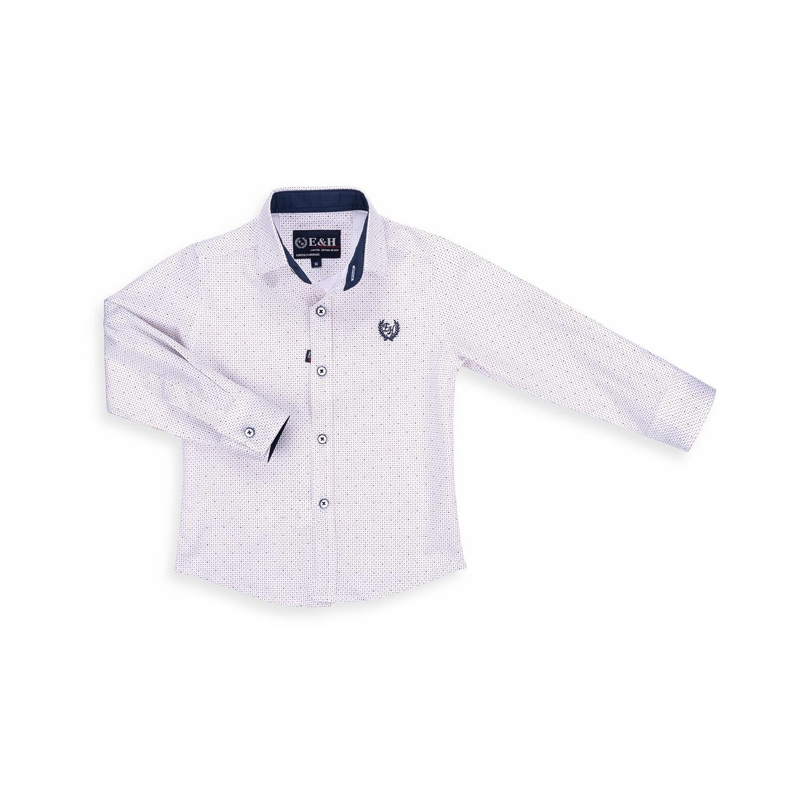 Рубашка E&H с мелким рисунком (G-257-98B-beige)
