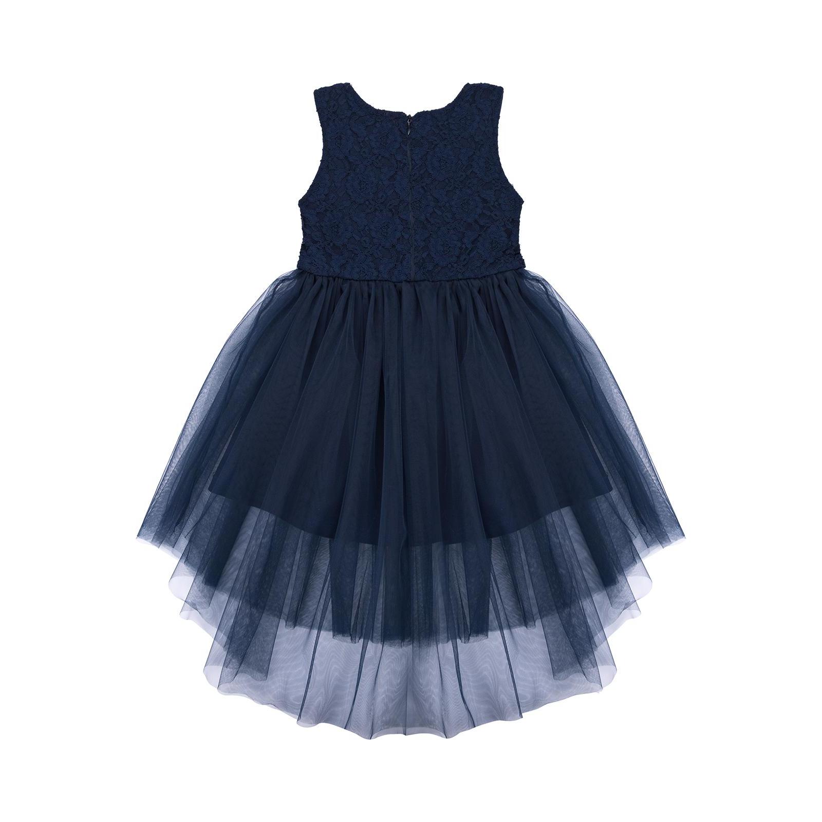 Платье Breeze с кружевным лифом и ассиметричной юбкой (11027-116G-blue) изображение 2