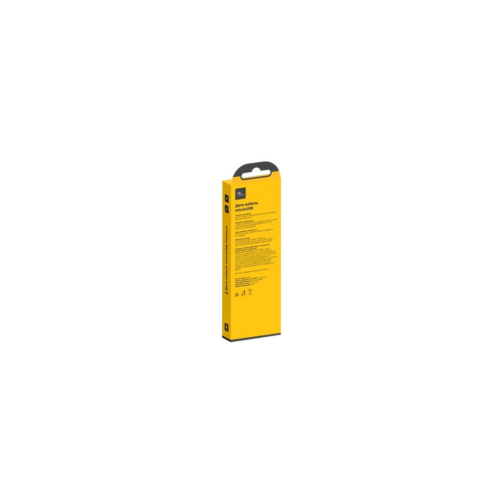 Дата кабель USB 2.0 AM to Micro 5P 1.0m Black Florence (FD-M1-2B) изображение 2