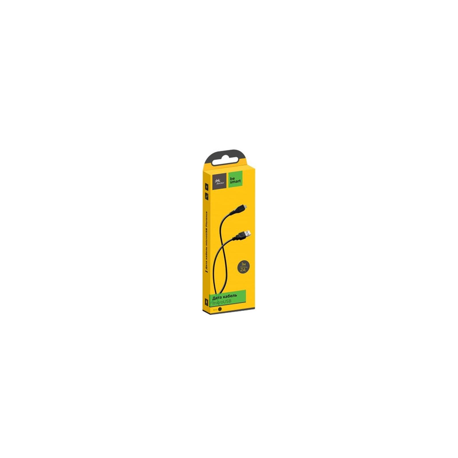 Дата кабель USB 2.0 AM to Micro 5P 1.0m Black Florence (FD-M1-2B)