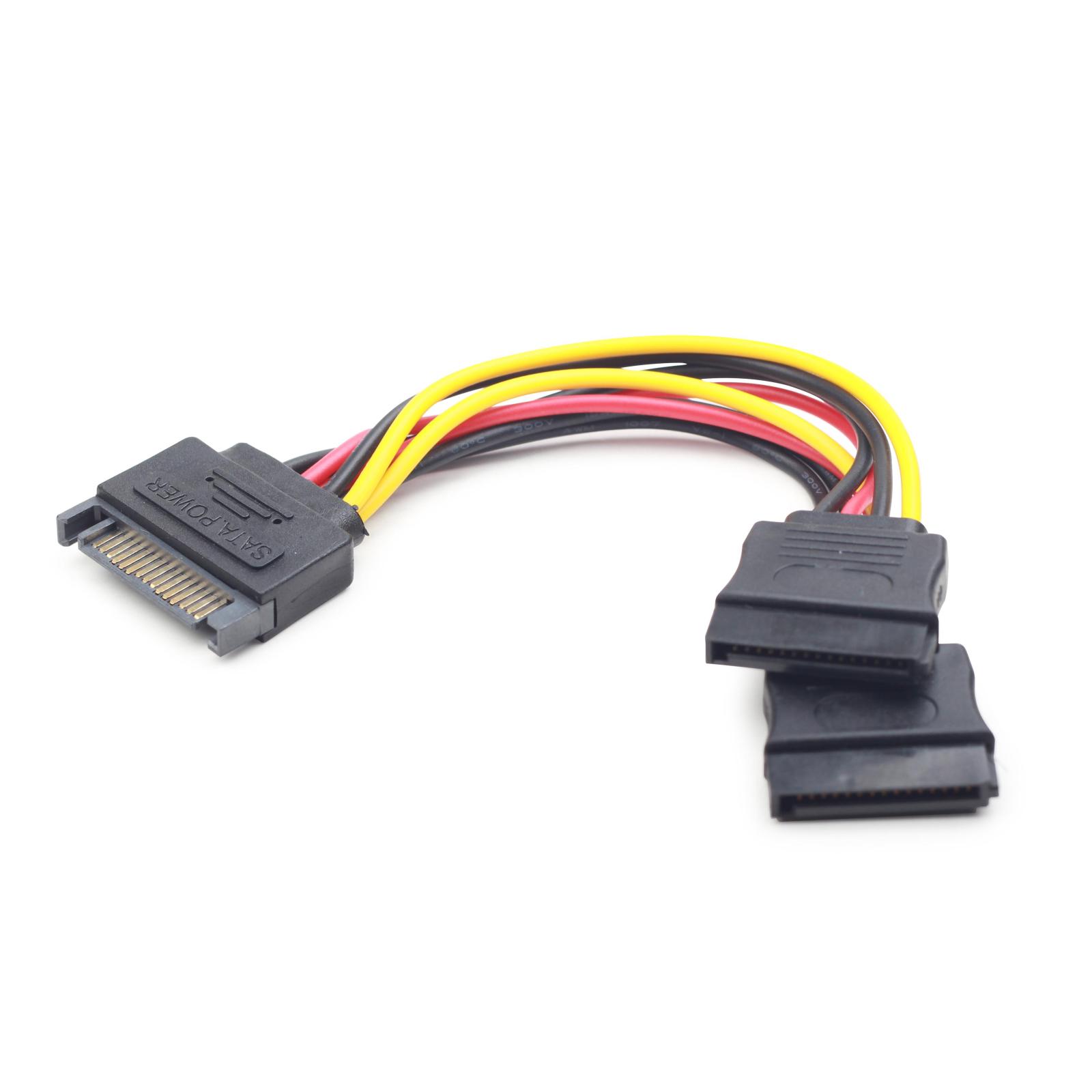Кабель питания SATA power 0.15m Cablexpert (CC-SATAM2F-01) изображение 2
