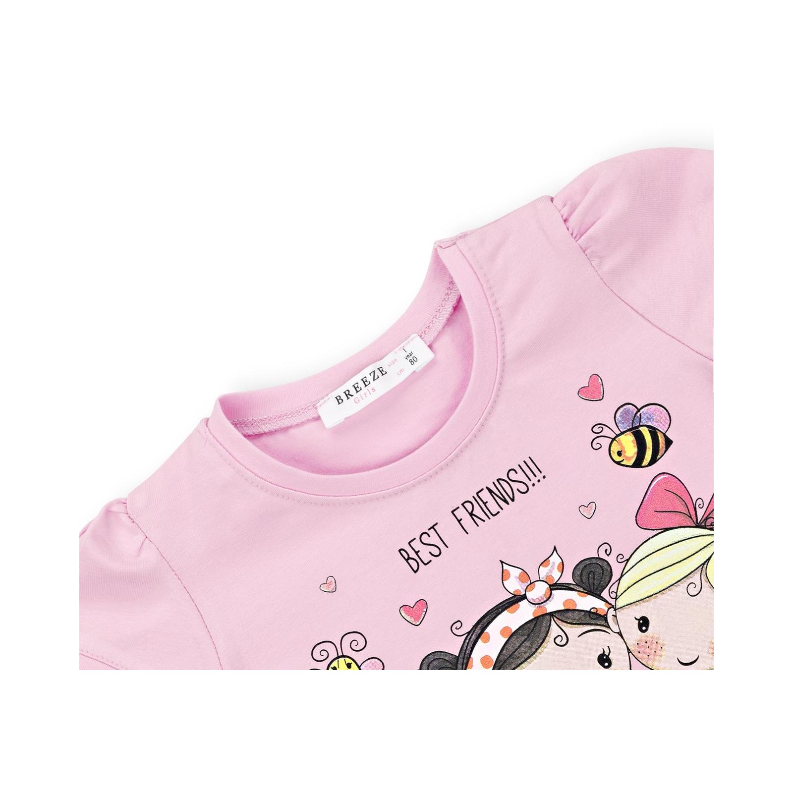 """Футболка детская Breeze """"BEST FRENDS"""" (11043-92G-pink) изображение 3"""