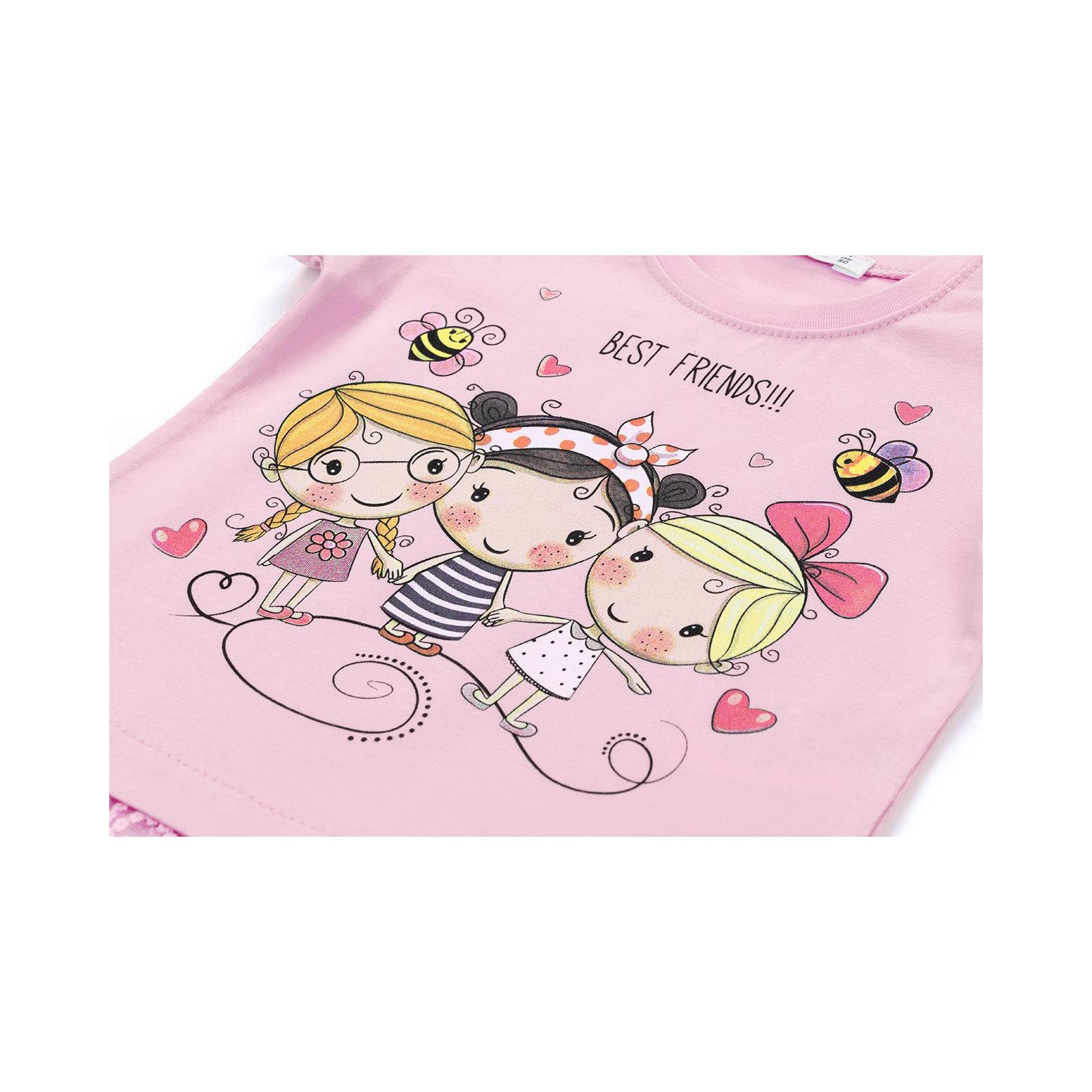 """Футболка детская Breeze """"BEST FRENDS"""" (11043-92G-pink) изображение 4"""