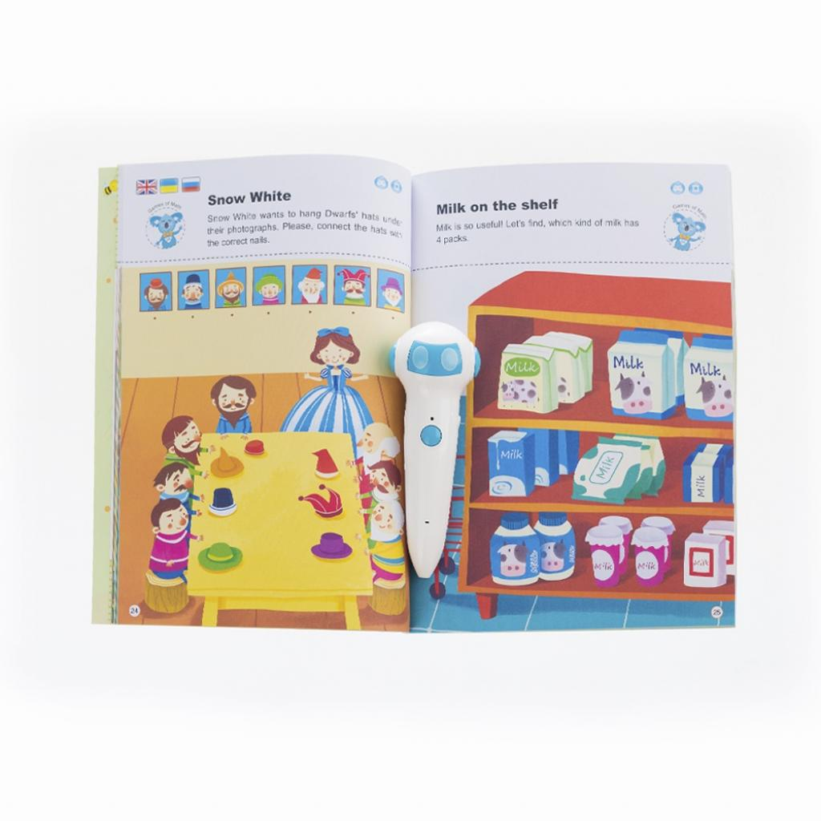 Интерактивная игрушка Smart Koala развивающая книга The Games of Math (Season 3) №3 (SKBGMS3) изображение 3