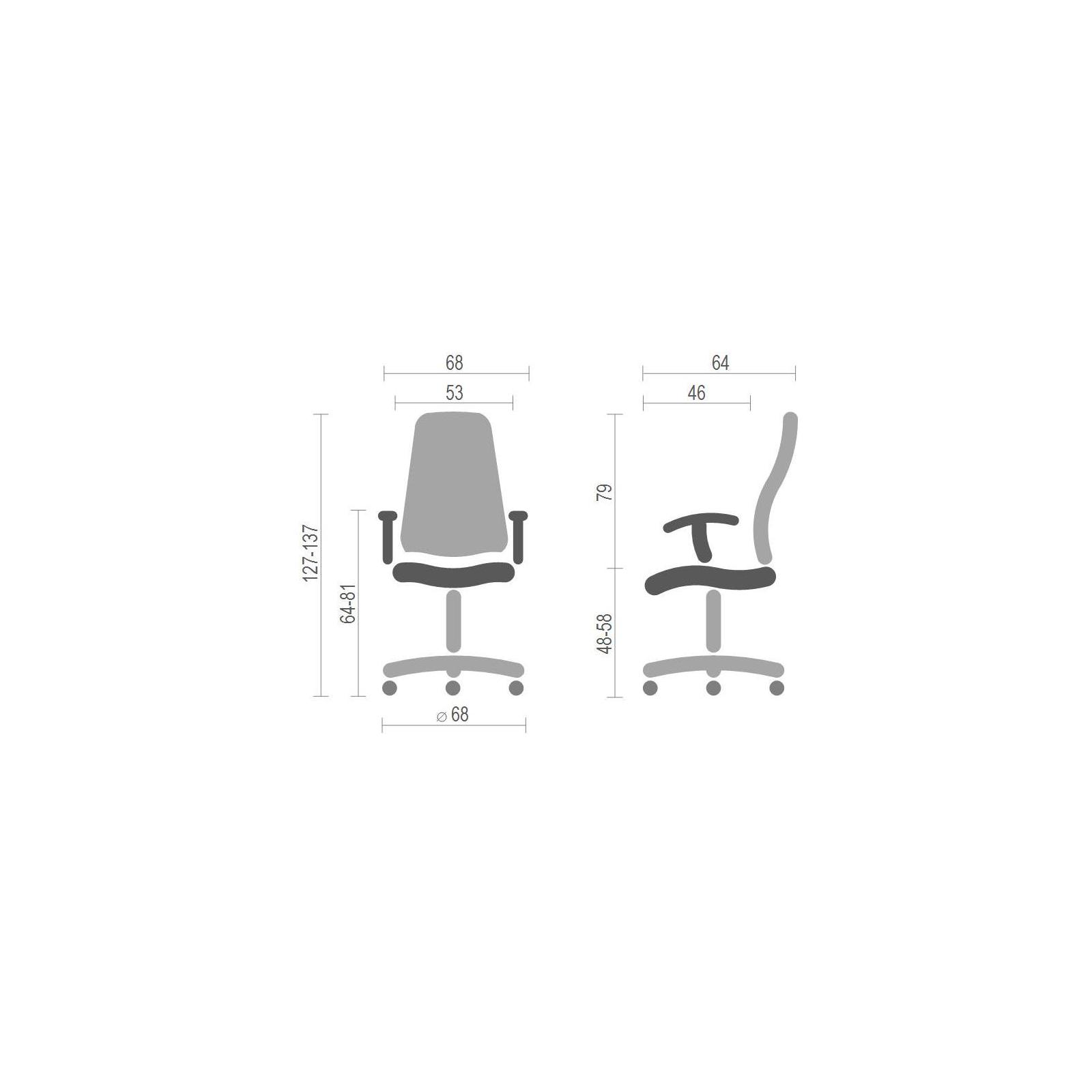 Кресло игровое АКЛАС Хорнет PL RL Желтое (06153) изображение 6