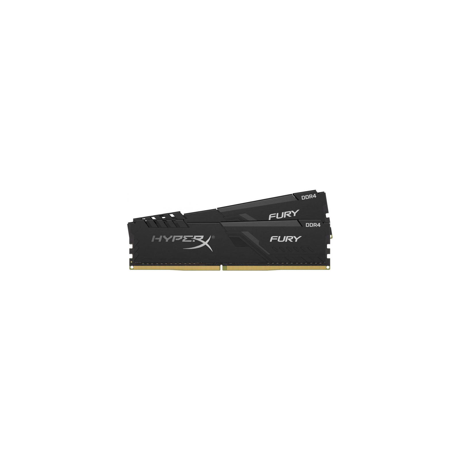 Модуль памяти для компьютера DDR4 8GB (2x4GB) 2666 MHz HyperX Fury Black HyperX (Kingston Fury) (HX426C16FB3K2/8) изображение 2