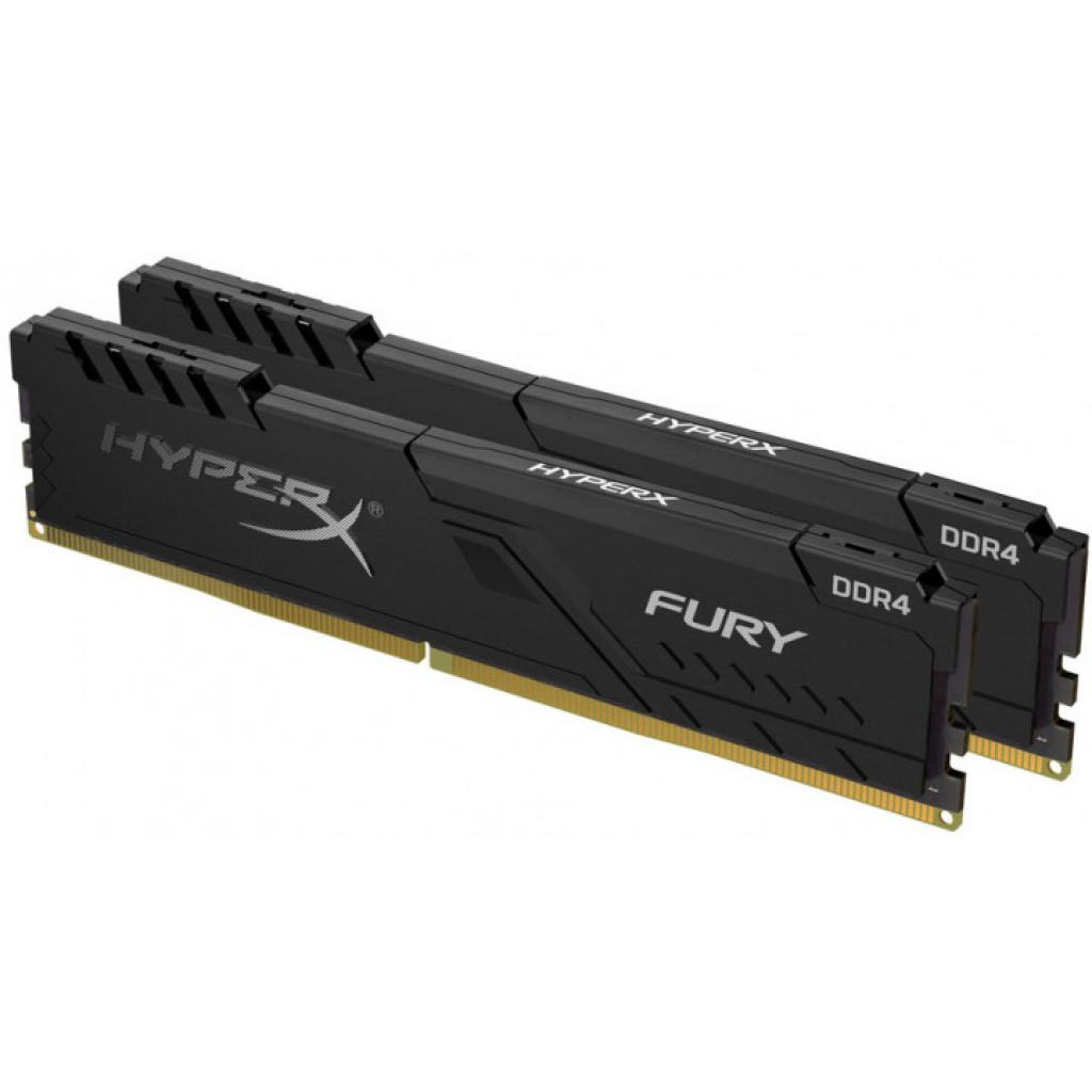 Модуль памяти для компьютера DDR4 8GB (2x4GB) 2666 MHz HyperX Fury Black HyperX (Kingston Fury) (HX426C16FB3K2/8)