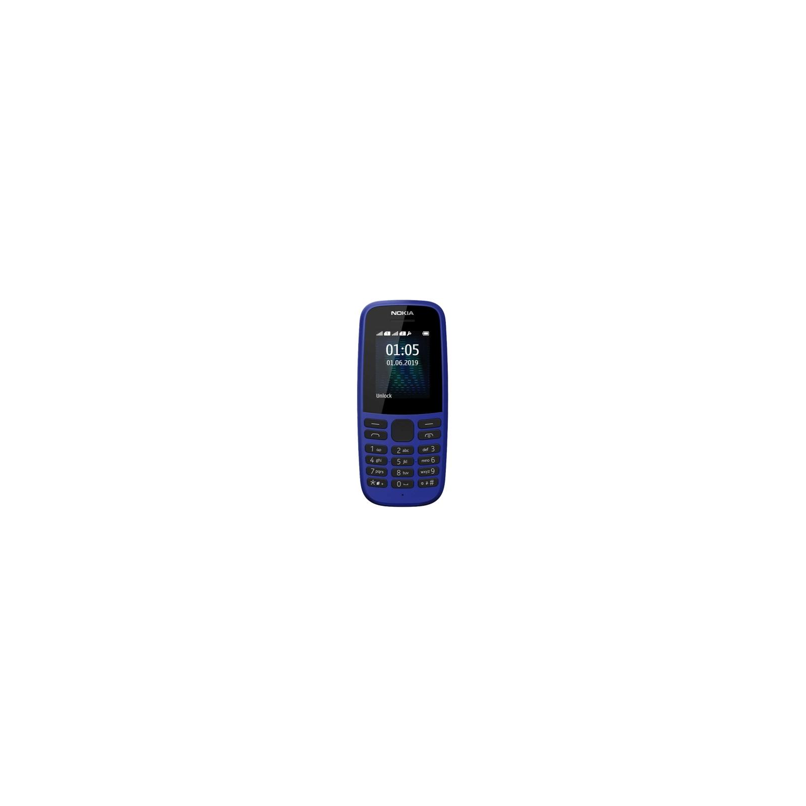 Мобильный телефон Nokia 105 SS 2019 Blue (16KIGL01A13) изображение 2