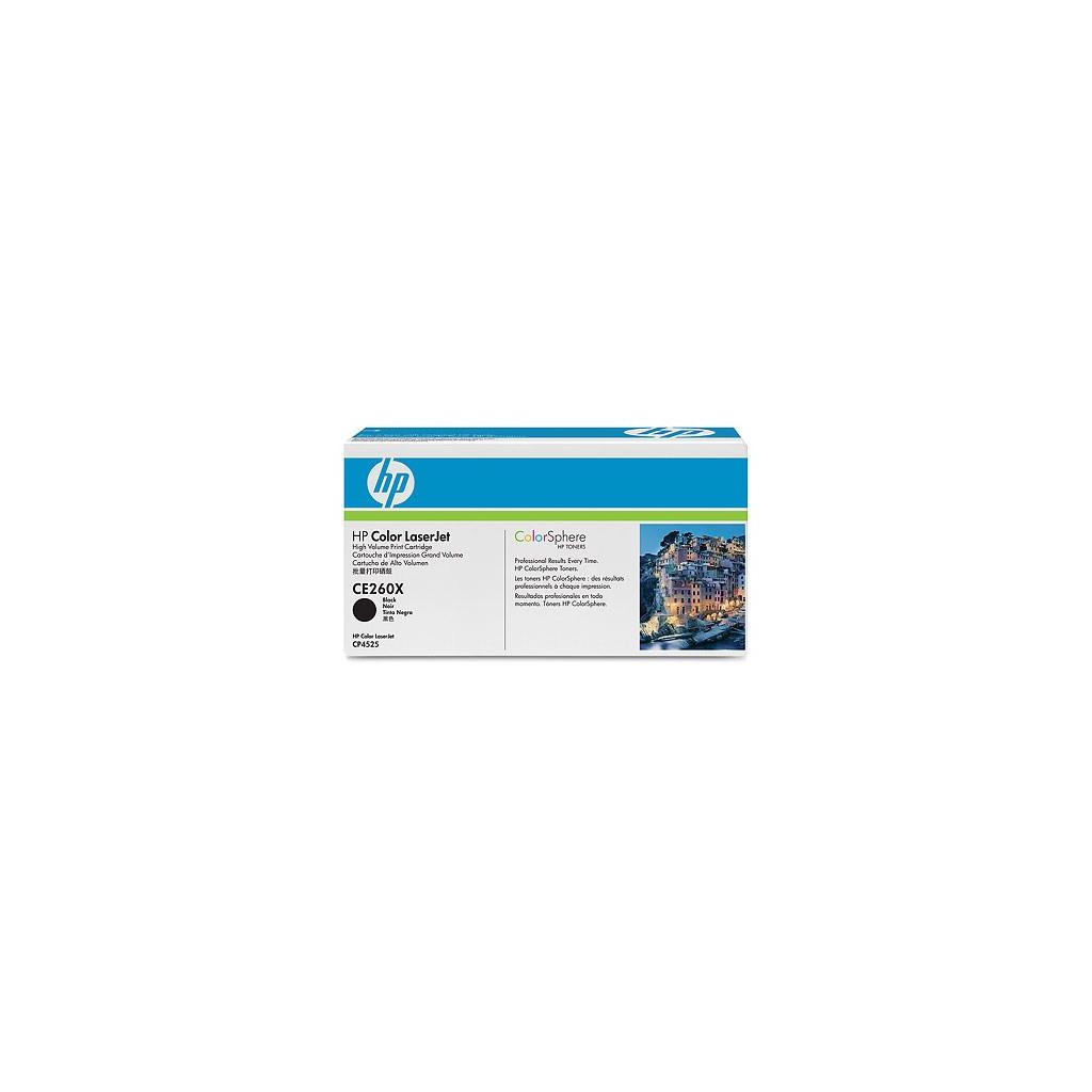 Картридж HP CLJ CP4525dn/4525n/4525xh black (CE260X)