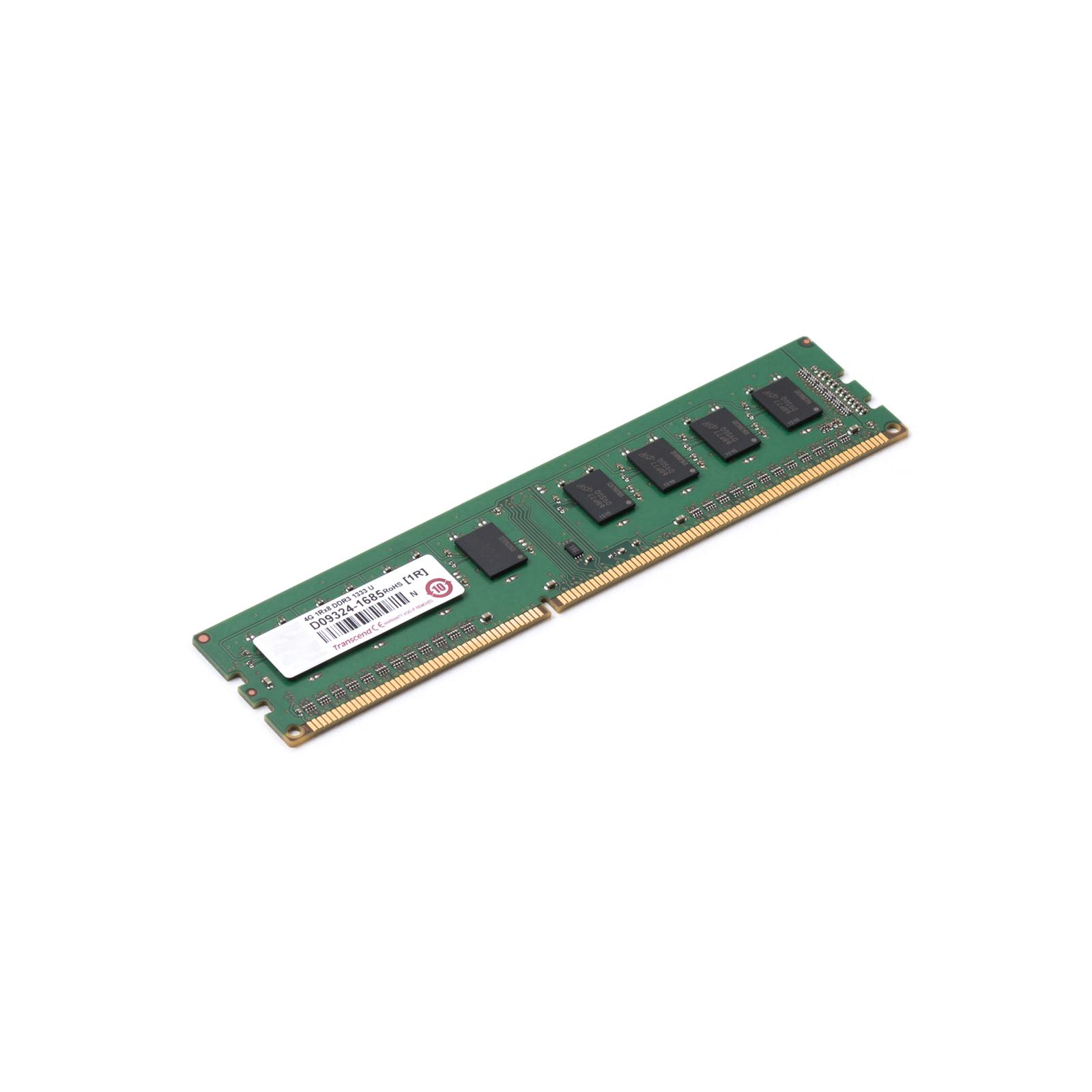 Модуль памяти для компьютера DDR3 4GB 1333 MHz Transcend (JM1333KLH-4G / JM1333KLN-4G) изображение 2