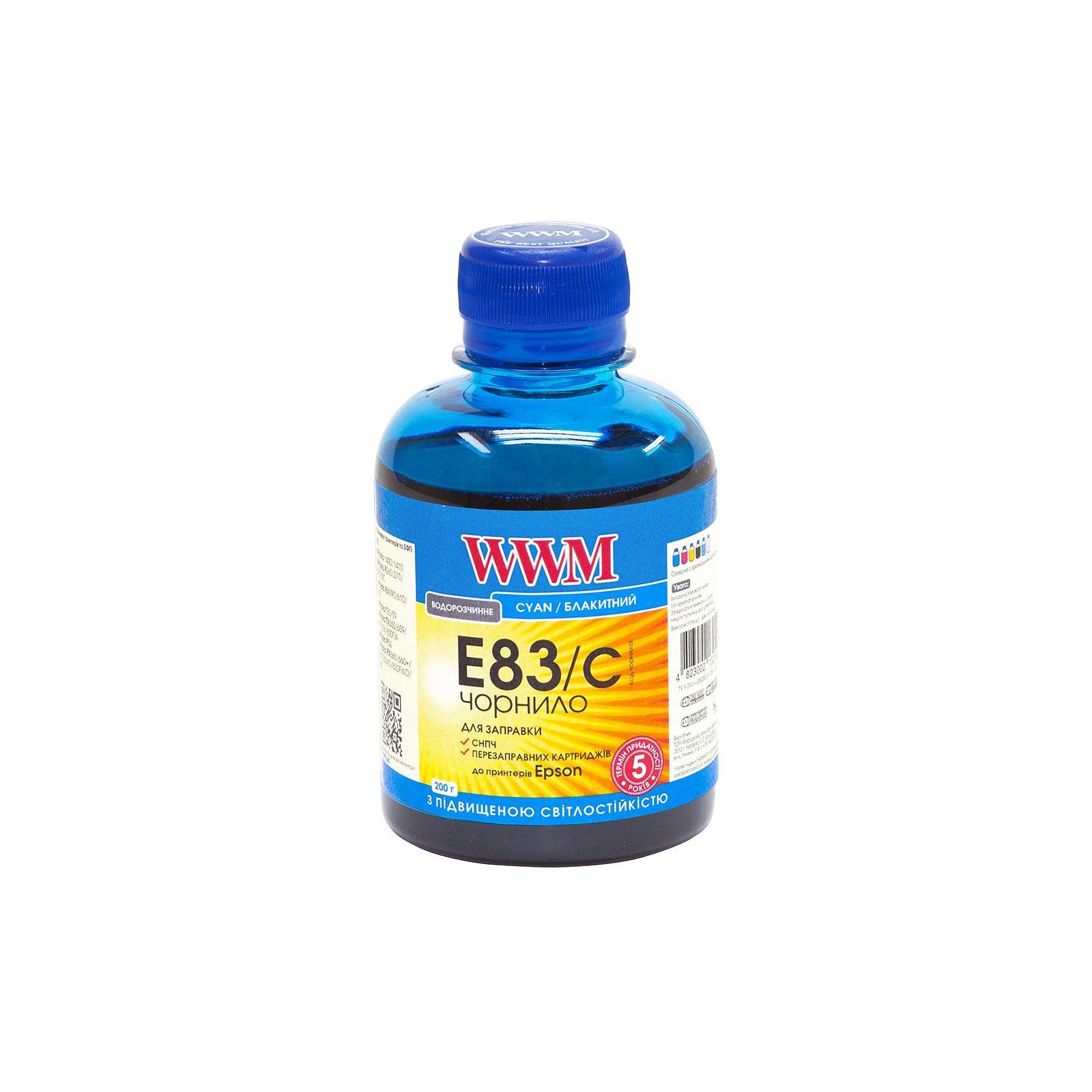 Чернила WWM EPSON StPhoto R270/290 Cyan /NEW (E83/C)