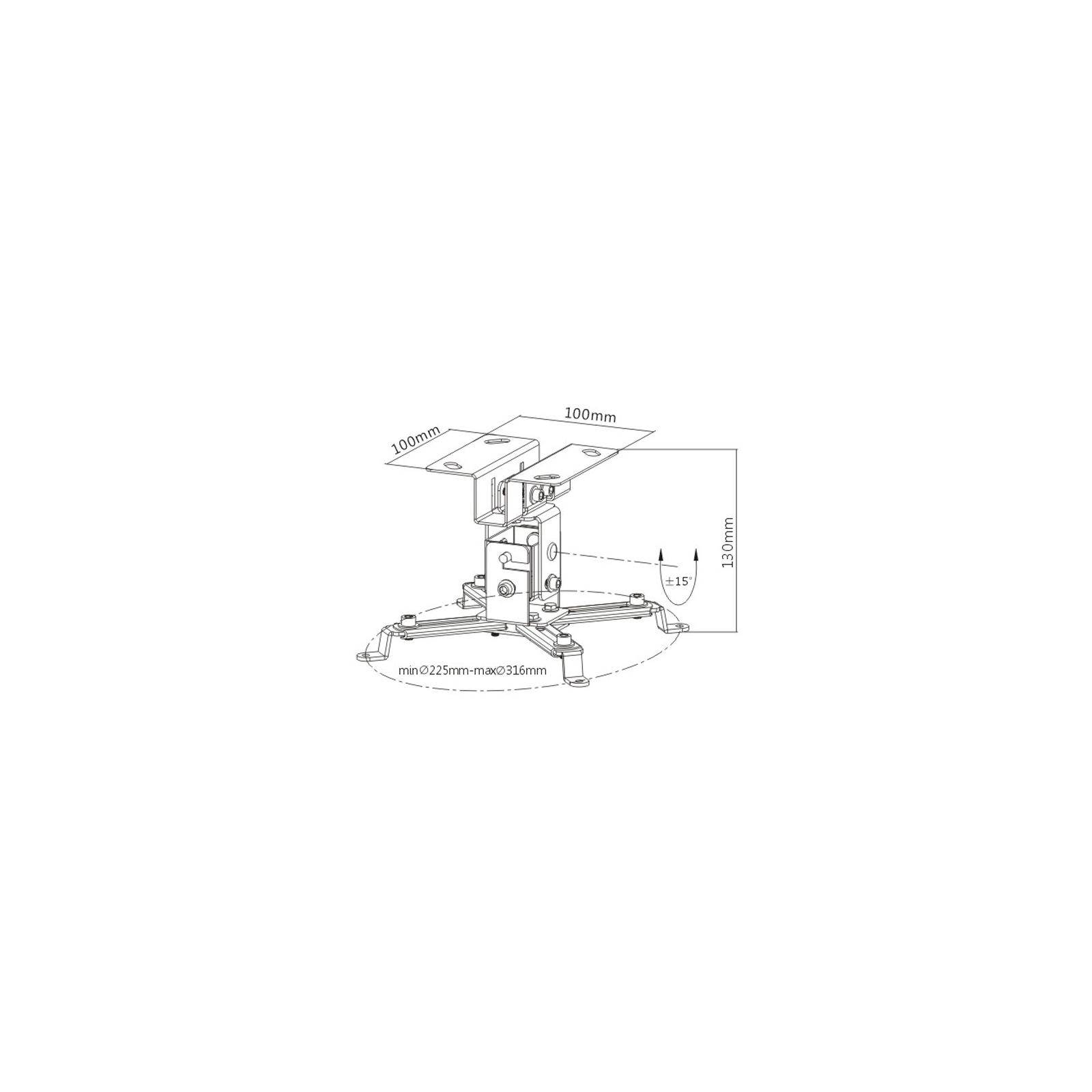 Кронштейн для проектора PRB-2S SILVER BRATECK изображение 2