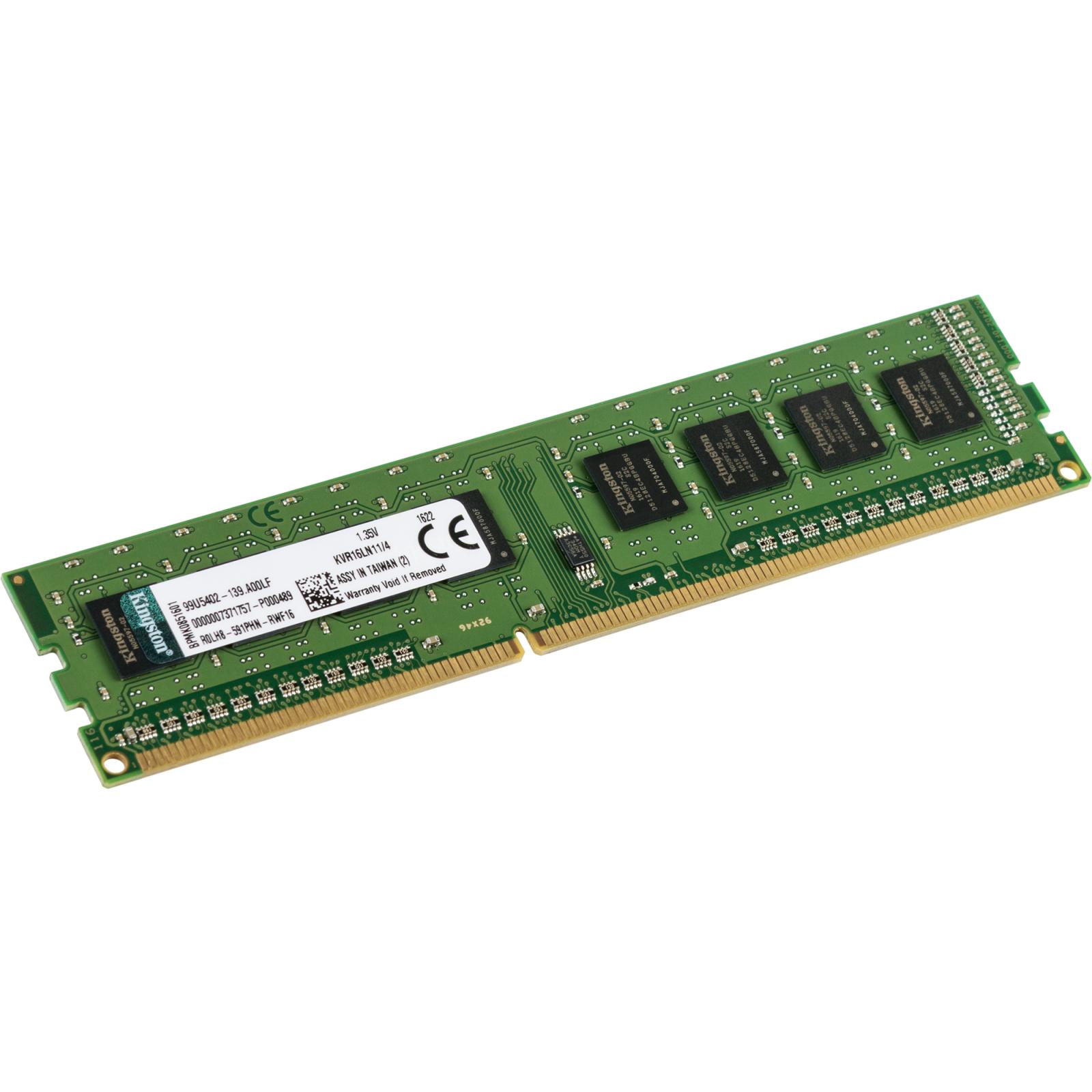 Модуль памяти для компьютера DDR3 4GB 1600 MHz Kingston (KVR16LN11/4) изображение 2