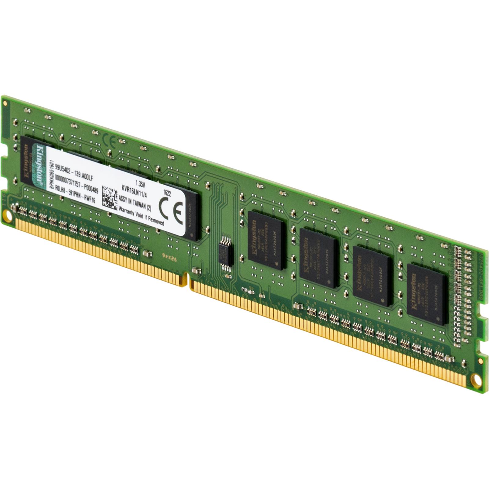 Модуль памяти для компьютера DDR3 4GB 1600 MHz Kingston (KVR16LN11/4) изображение 3