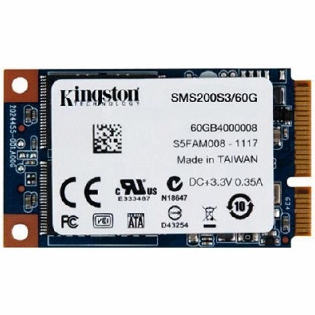 Накопитель SSD mSATA 60GB Kingston (SMS200S3/60G)