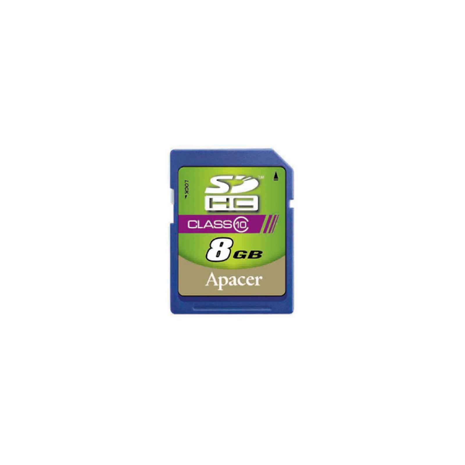 Карта памяти Apacer 8GB SDHC Class10 RP (AP8GSDHC10-R)