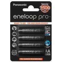 Аккумулятор PANASONIC Eneloop Pro AA 2500mAh NI-MH * 4 (BK-3HCDE/4BE)