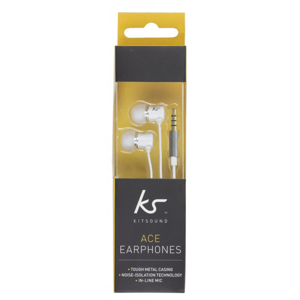 Наушники KitSound KS Ace In-Ear Headphones with mic White (KSACEMWH) изображение 6